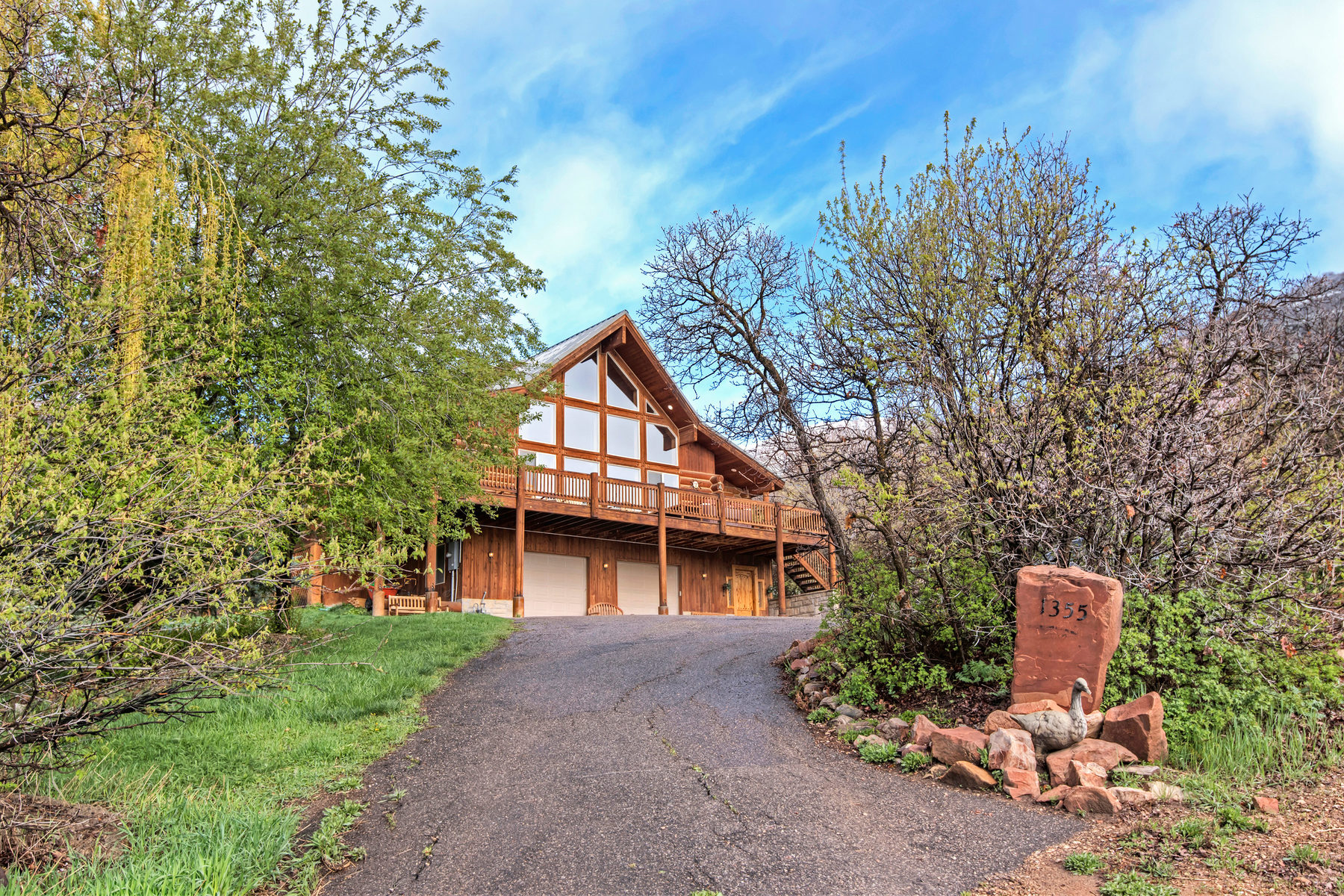 sales property at Beautiful Log Home in Private Setting