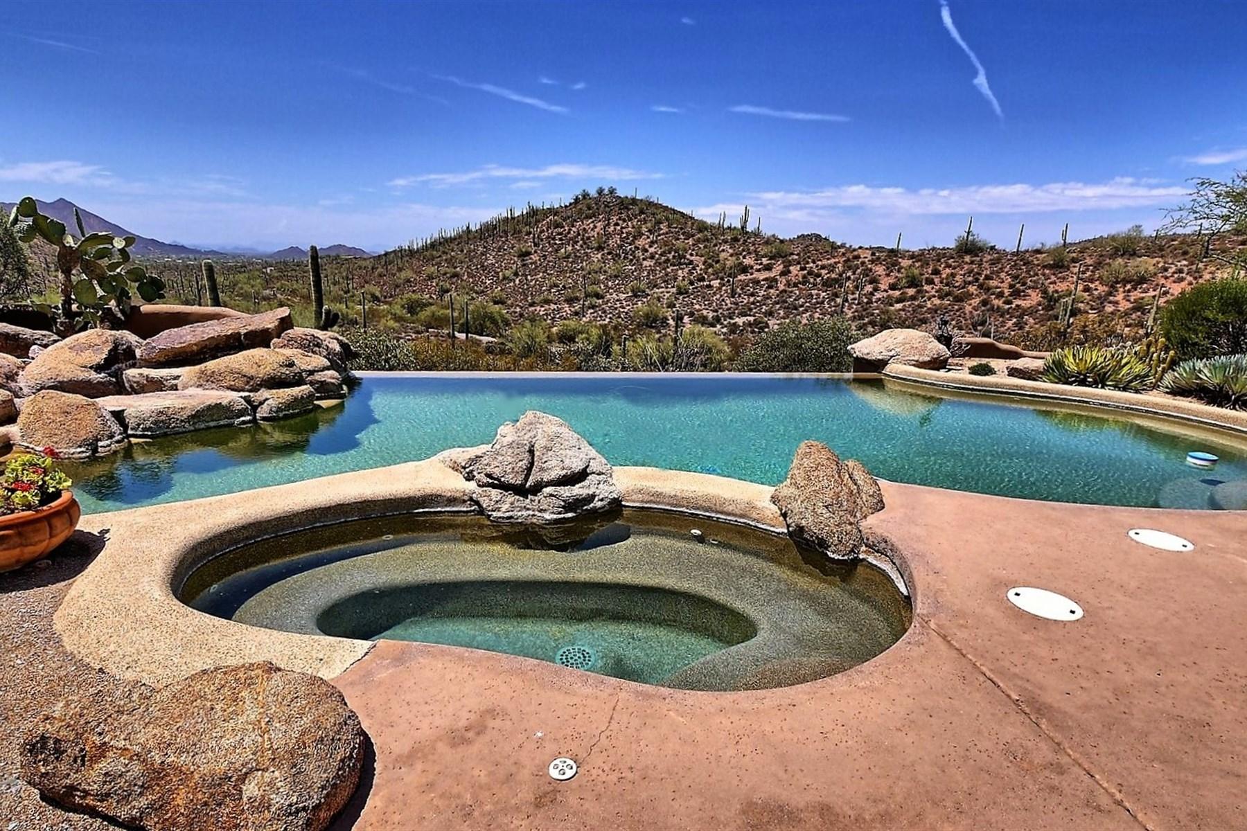 Einfamilienhaus für Verkauf beim Soft Southwestern Santa Fe home with amazing views 43311 N Cottonwood Canyon Rd Cave Creek, Arizona, 85331 Vereinigte Staaten