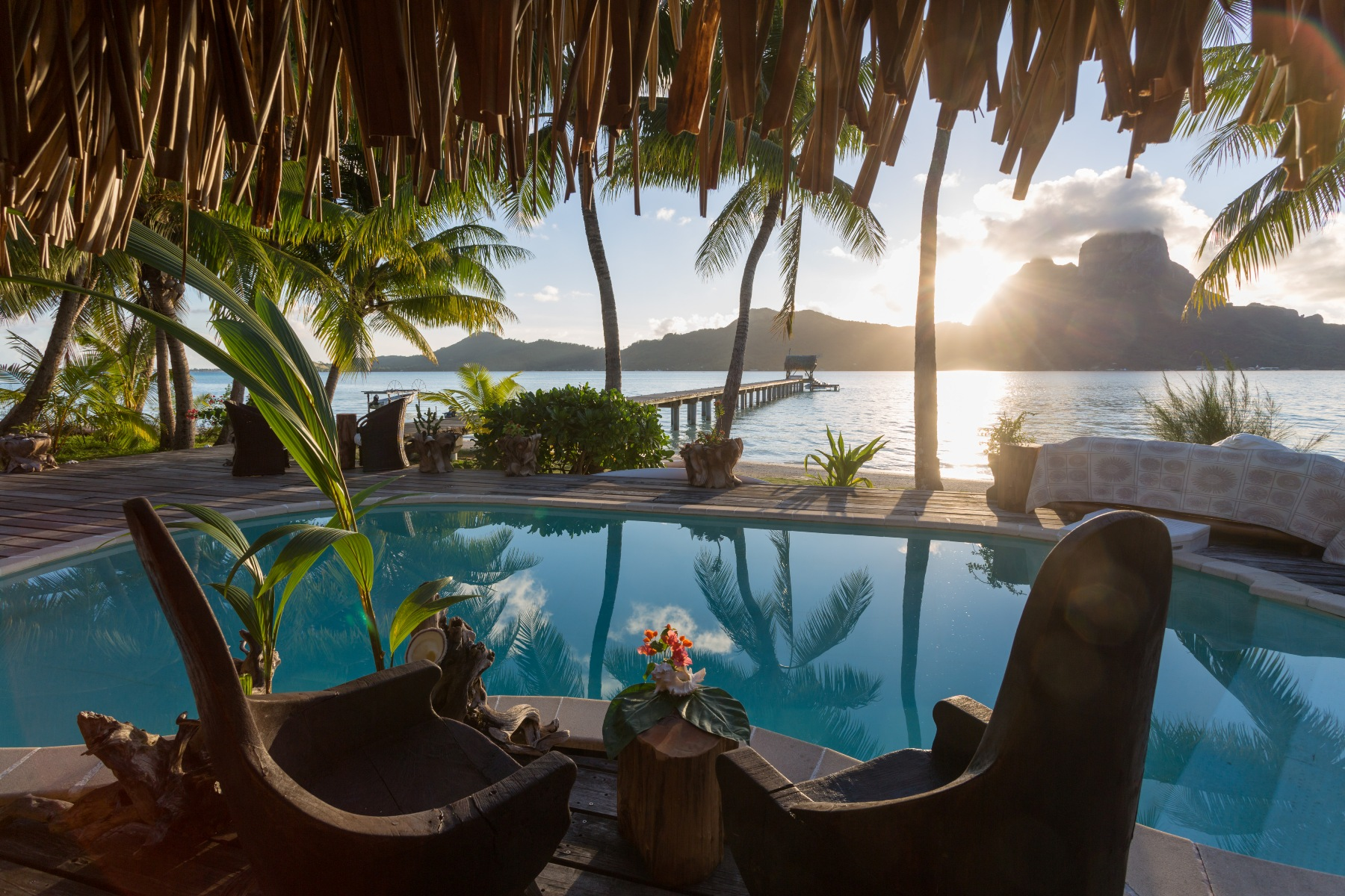 Bed and Breakfast for Sale at Idyllic and peaceful property Anau, Bora Bora French Polynesia