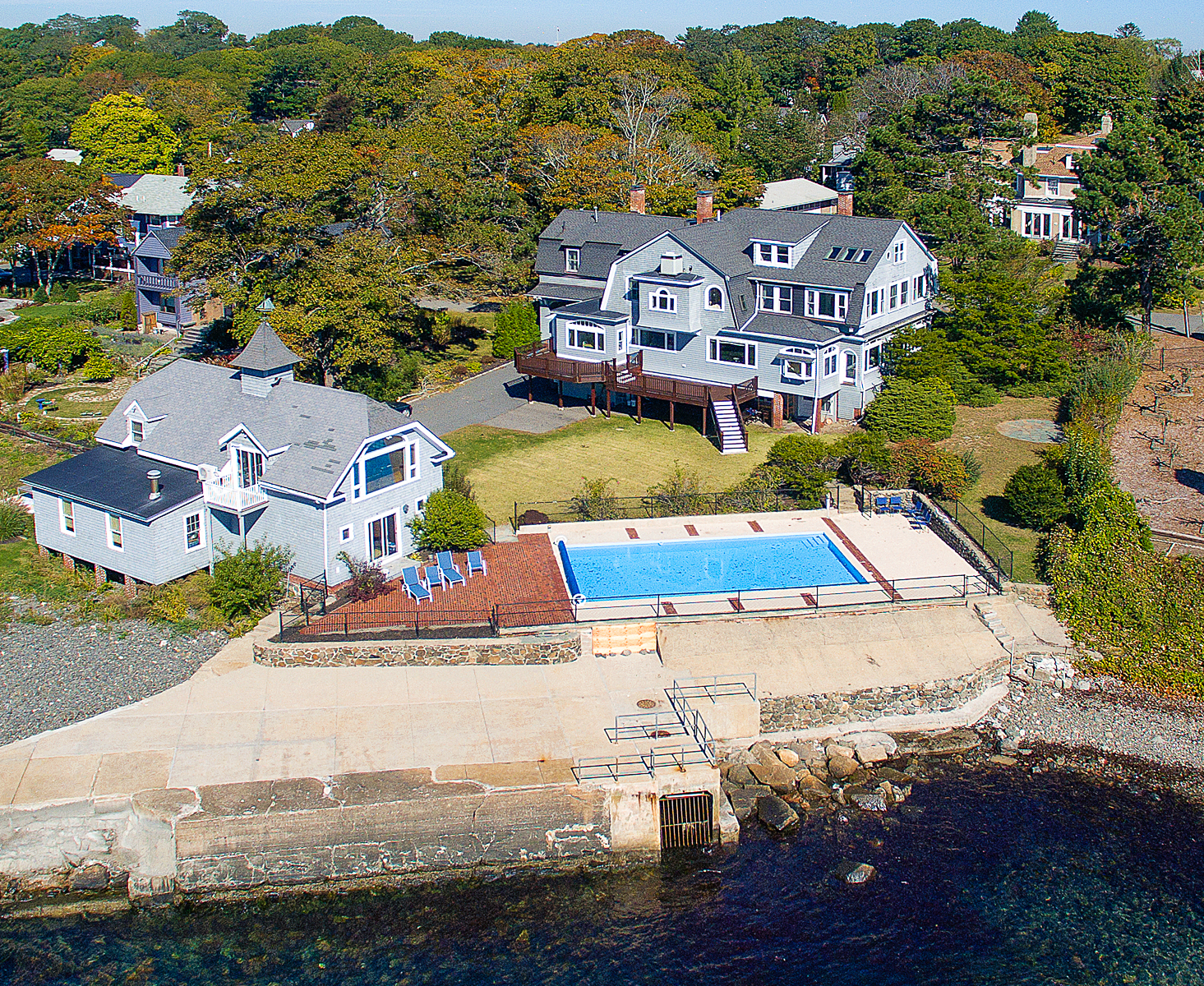 Single Family Home for Sale at North of Boston Oceanfront 11 Crown Way Marblehead, Massachusetts 01945 United States
