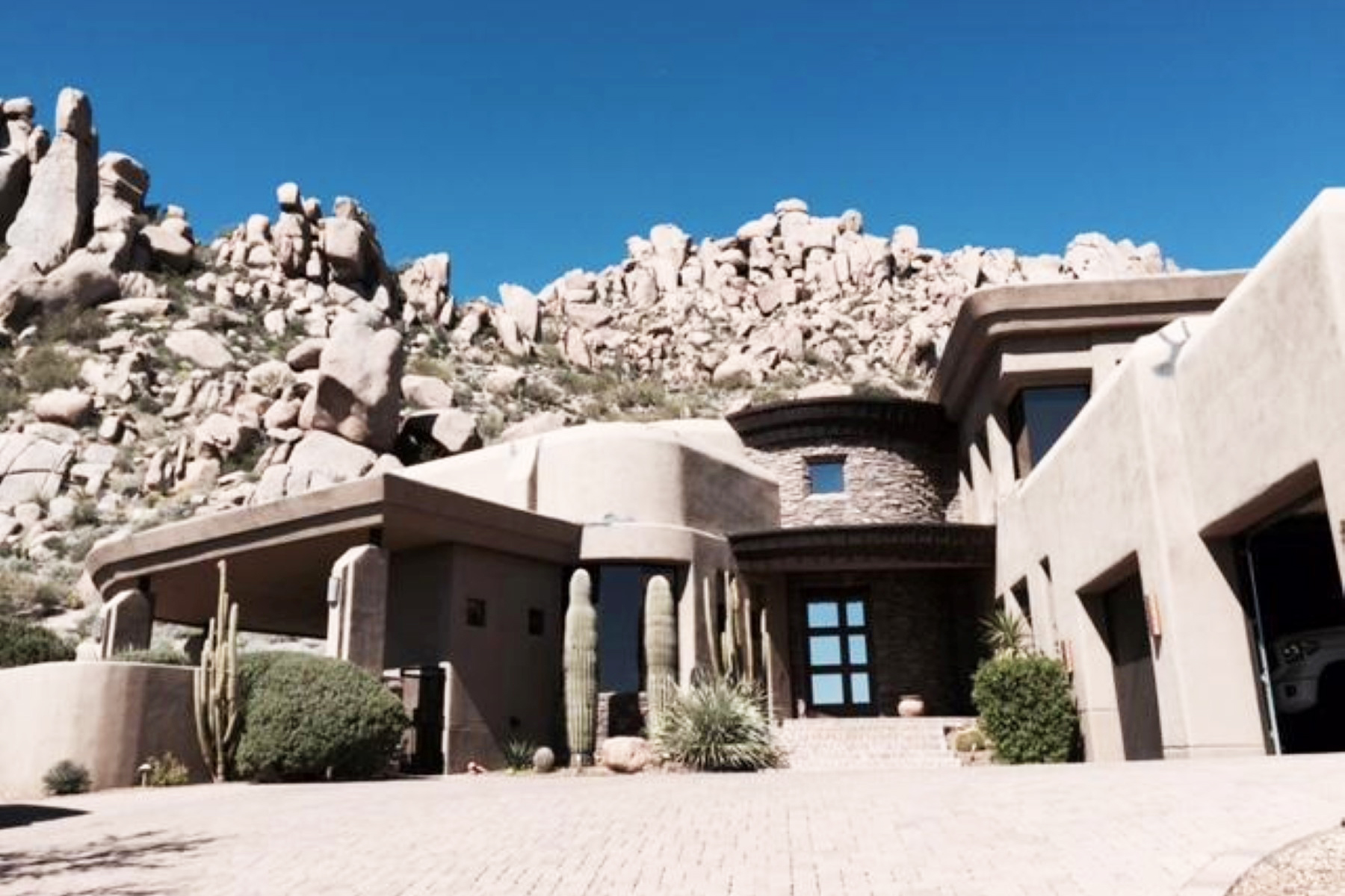 Single Family Home for Sale at Soft Custom Contemporary On One Of The Highest Elevation Lots On Troon Mountain 25132 N 114th Street Scottsdale, Arizona 85255 United States
