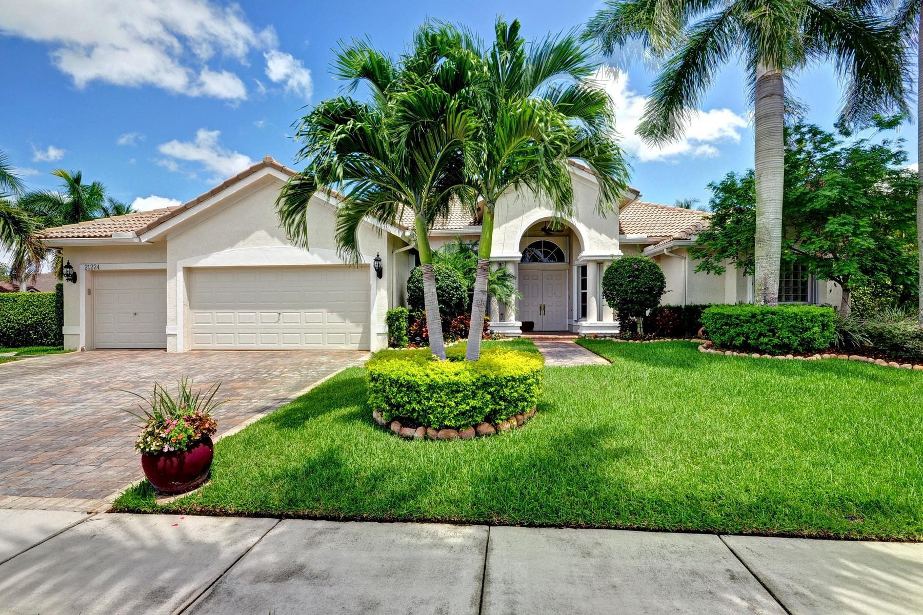 단독 가정 주택 용 매매 에 21224 Rock Ridge Dr , Boca Raton, FL 33428 21224 Rock Ridge Dr Boca Raton, 플로리다 33428 미국