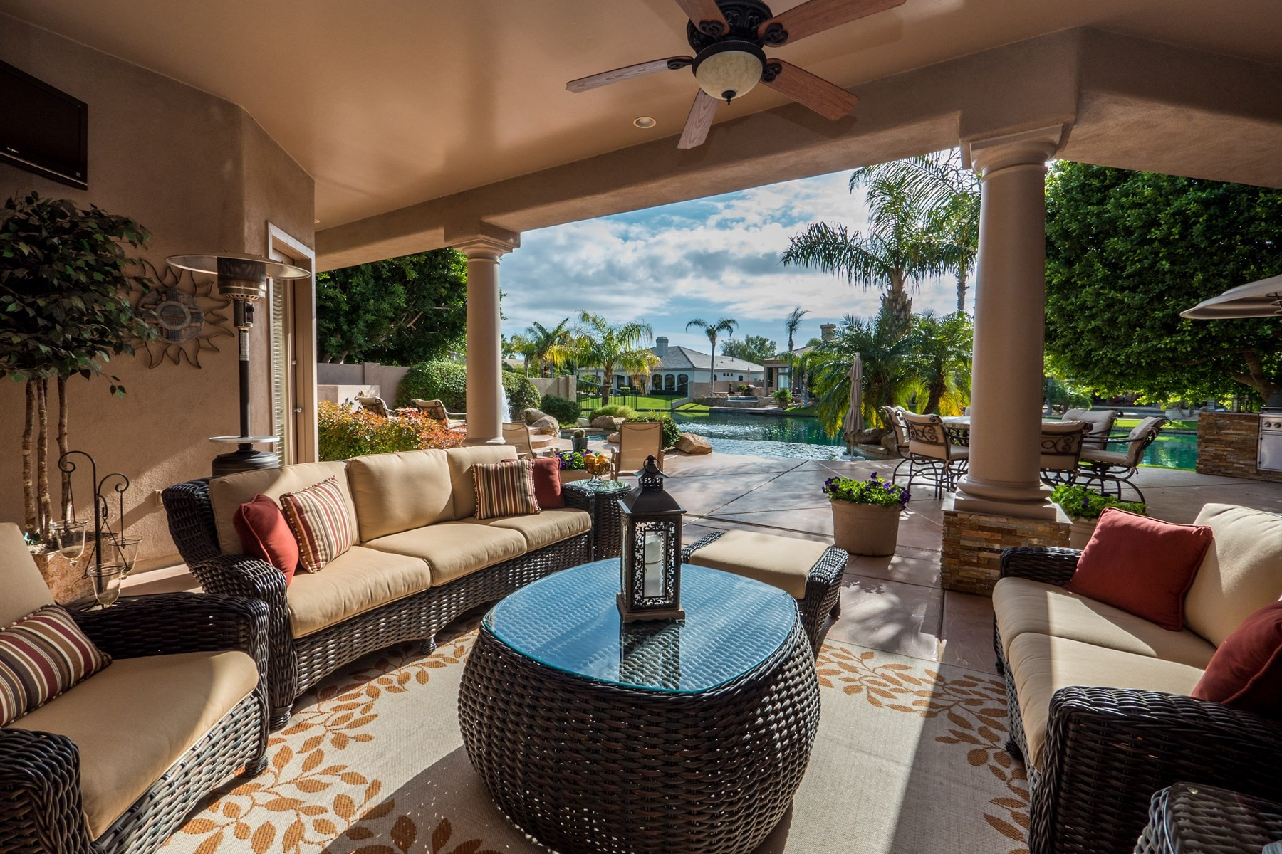 Single Family Home for Sale at Beautiful custom home with stunning views 3441 S Camellia Pl Chandler, Arizona, 85248 United States