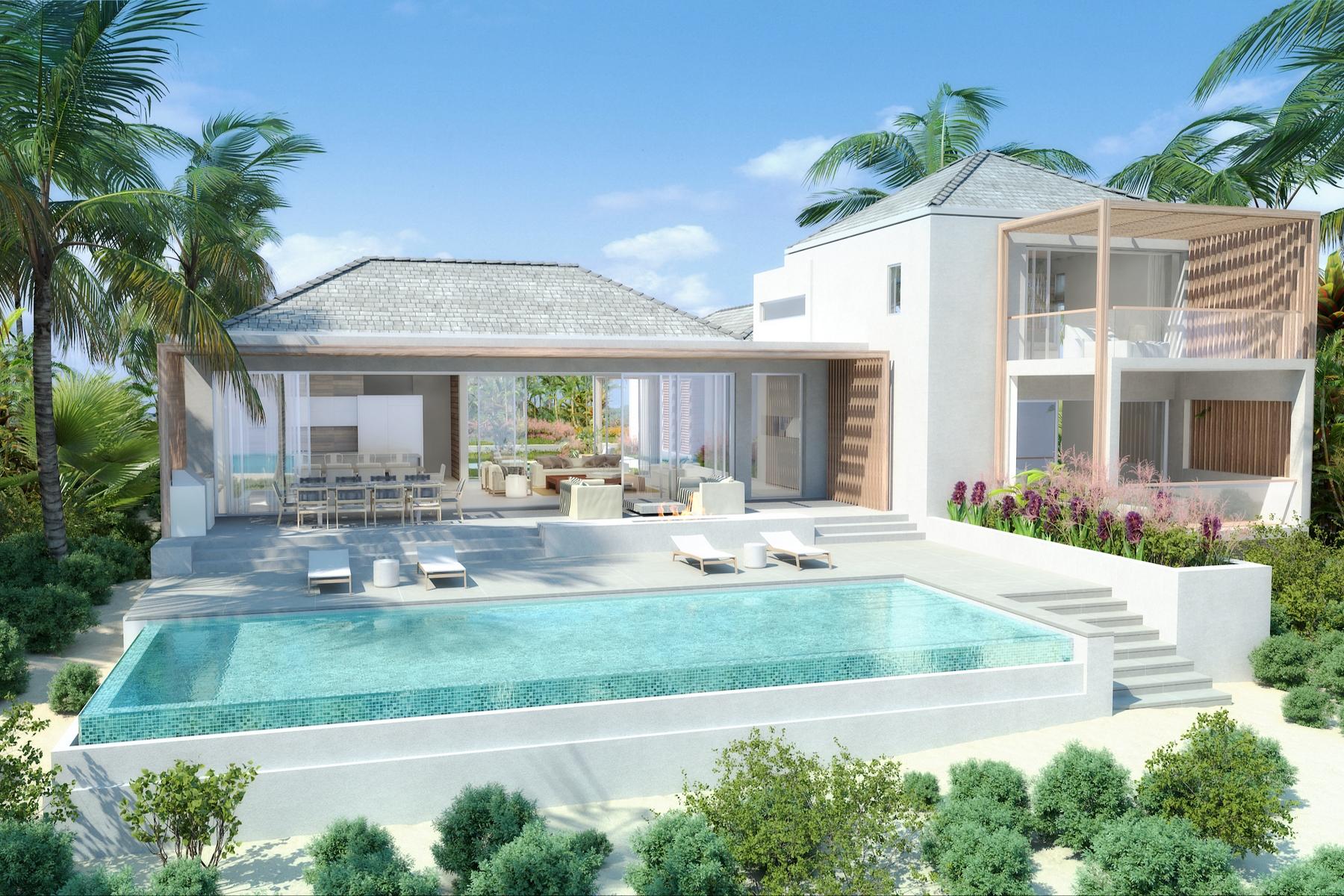 Vivienda unifamiliar por un Venta en BE LONG BAY VILLA - Design One Beachfront Long Bay, Providenciales TCI Islas Turcas Y Caicos