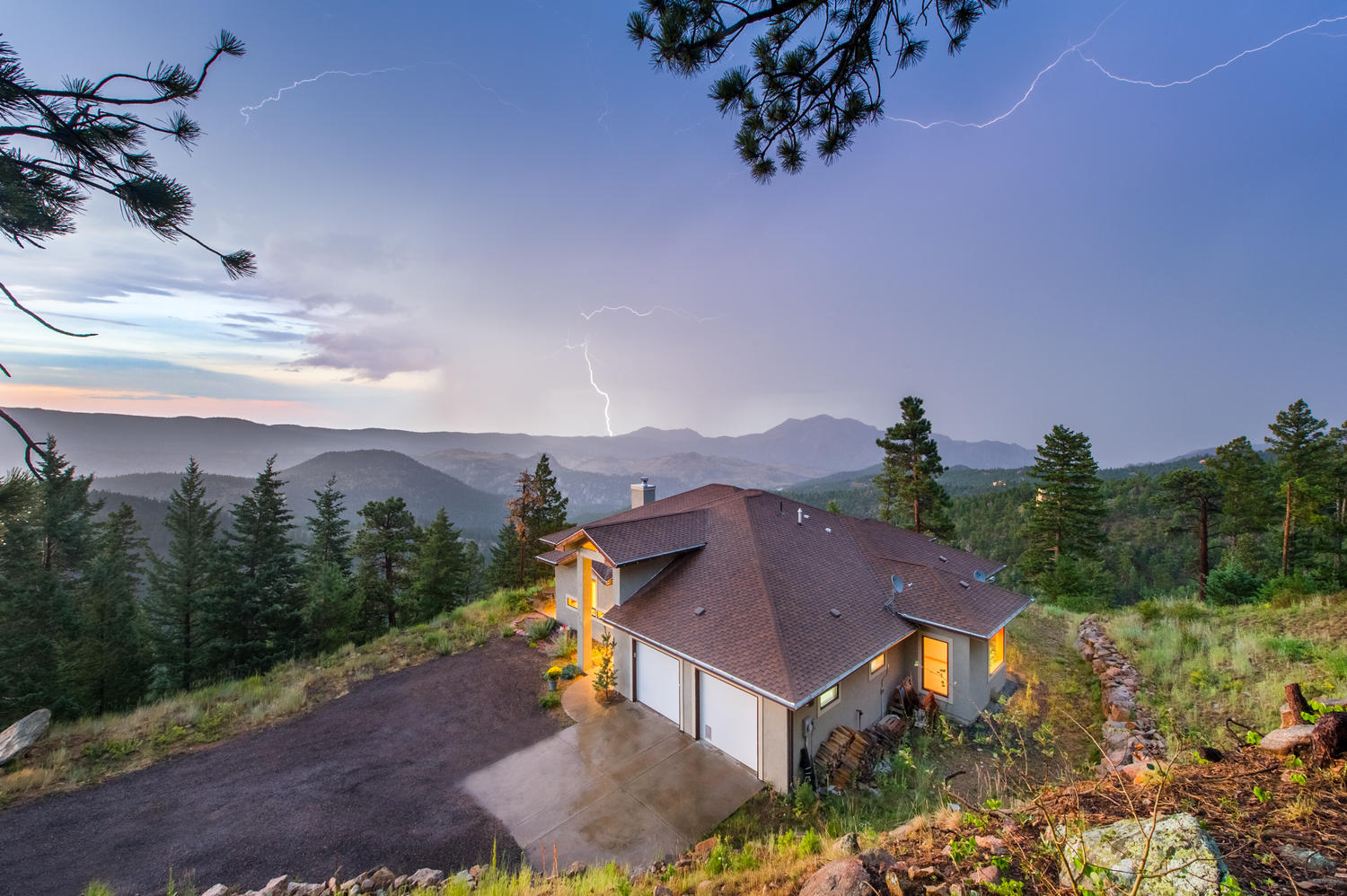 Single Family Home for Sale at Custom Home And Magnificent Views 32101 Coal Creek Canyon Drive Golden, Colorado, 80403 United States