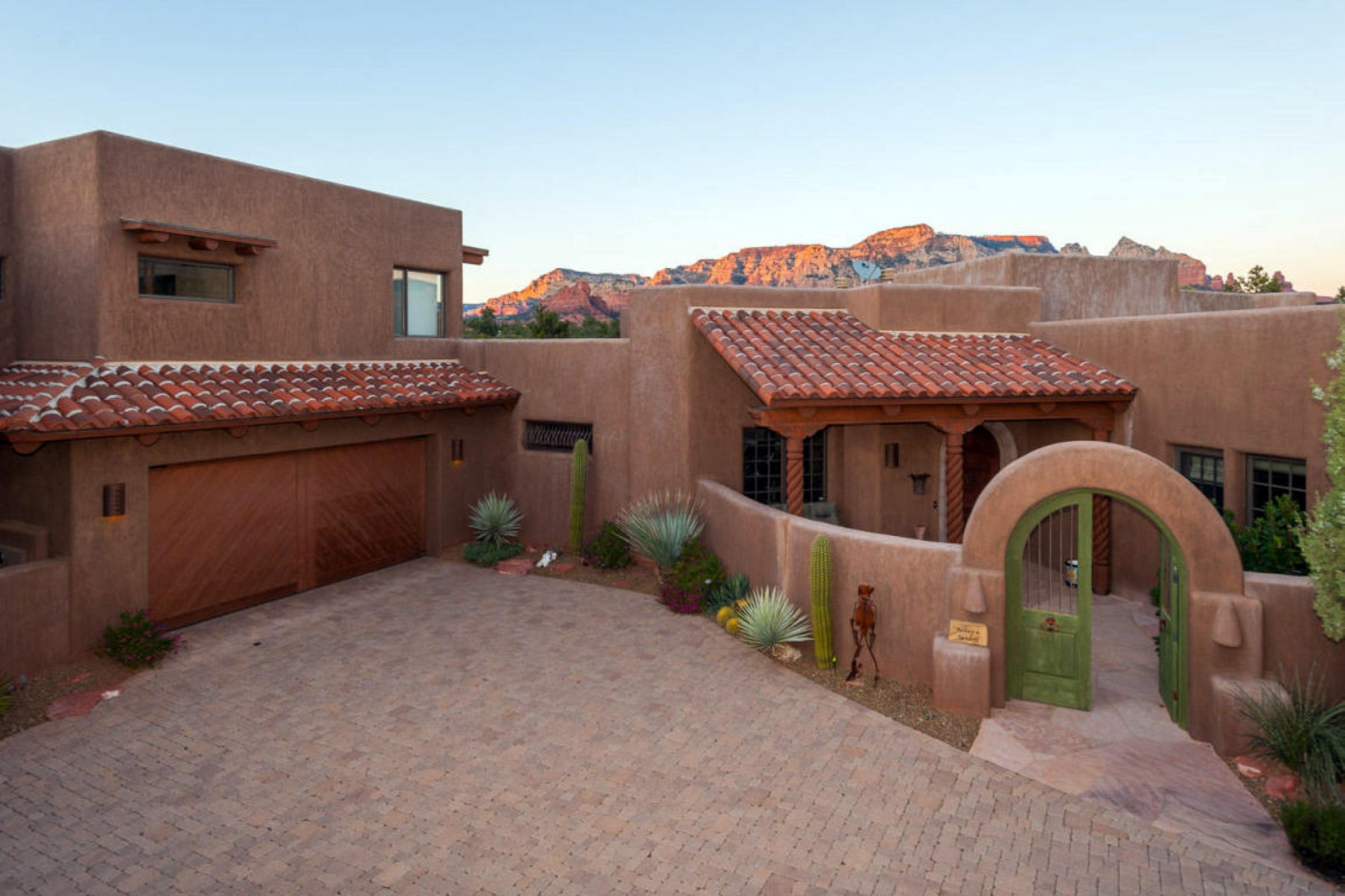 sales property at Luxury home in with a dramatic red rock panorama