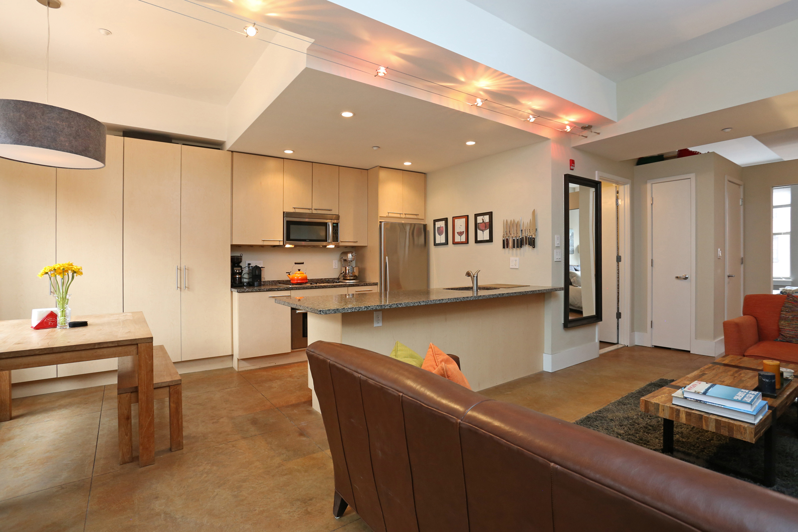 sales property at Gorgeous 1-bedroom with a wide-open floor plan and contemporary finishes.