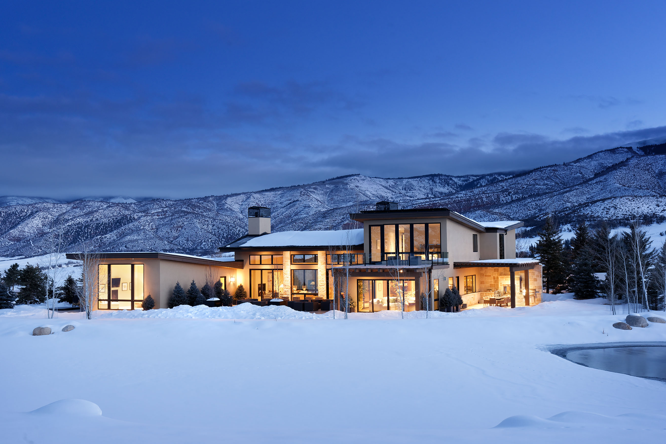 Single Family Home for Sale at Brand New Exclusive Star View Estate 51 White Star Drive Aspen, Colorado, 81611 United States