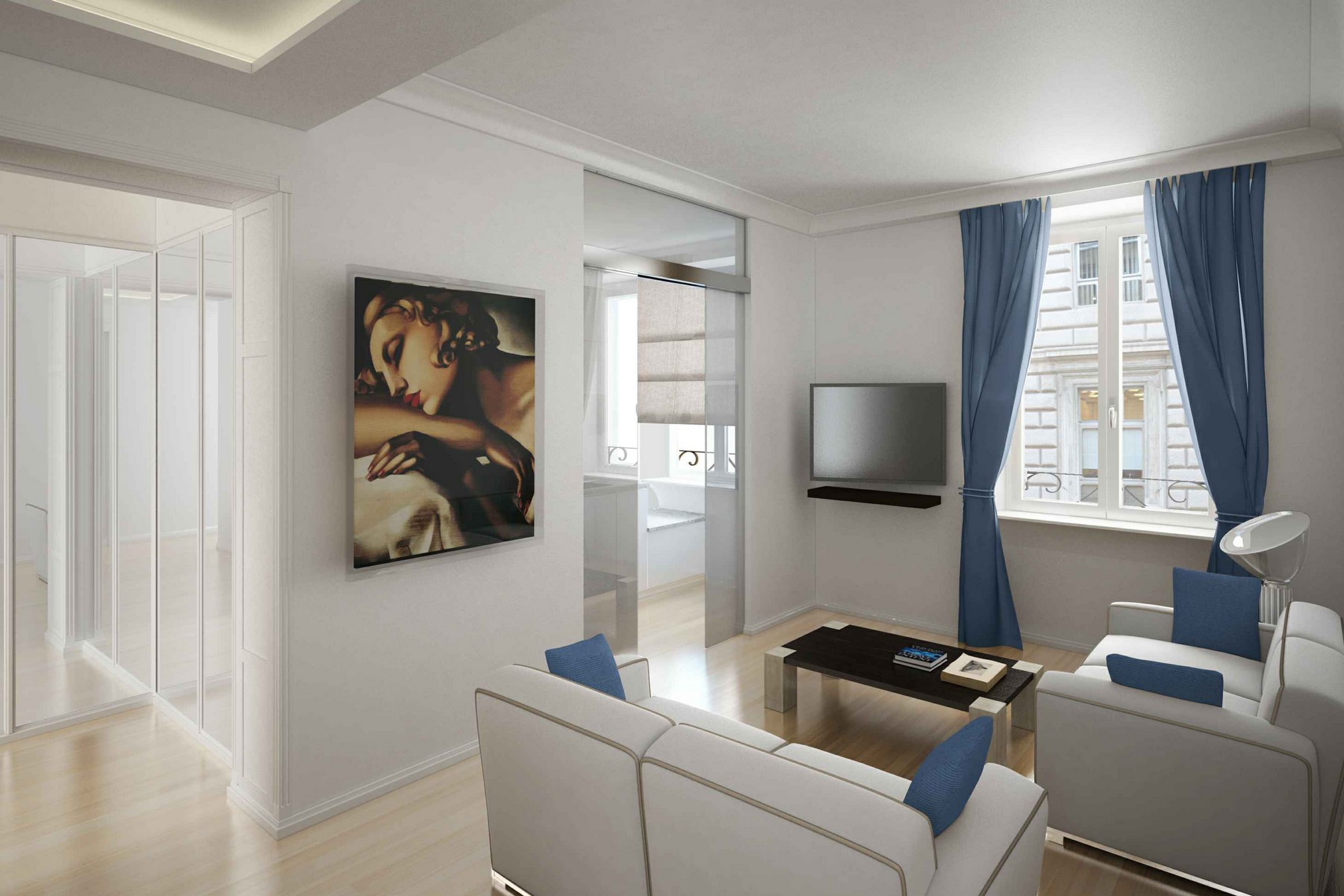 Apartamento por un Venta en Prestigious apartments in historic building totally retrained Rome, Roma Italia