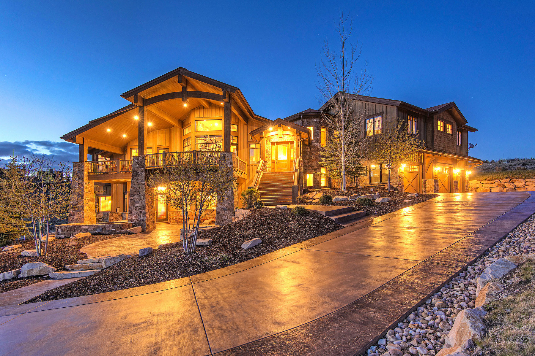 Single Family Home for Sale at Majestic Mountain Elegance 3087 Blue Sage Trail Park City, Utah 84098 United States