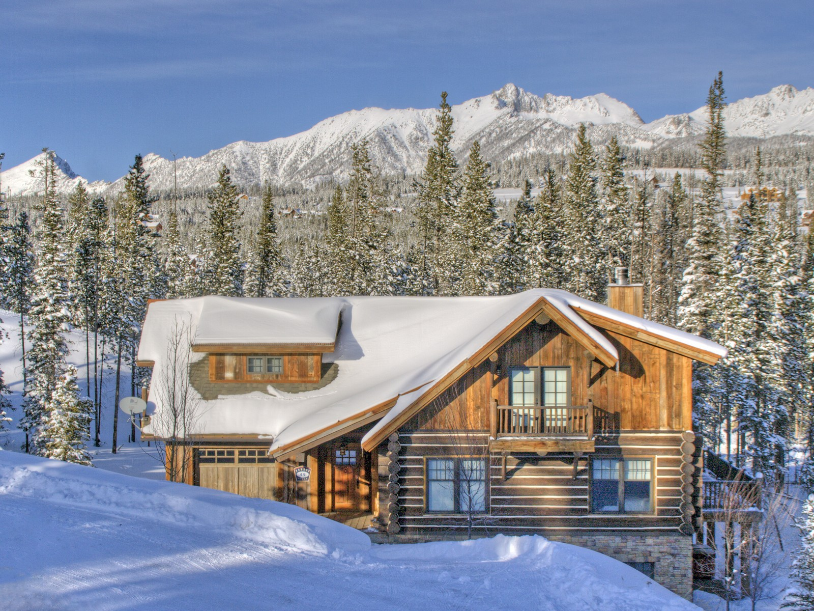 Condominium for Sale at Ski-in, out Powder Ridge Cabin 1 Manitou Loop Big Sky, Montana 59716 United States