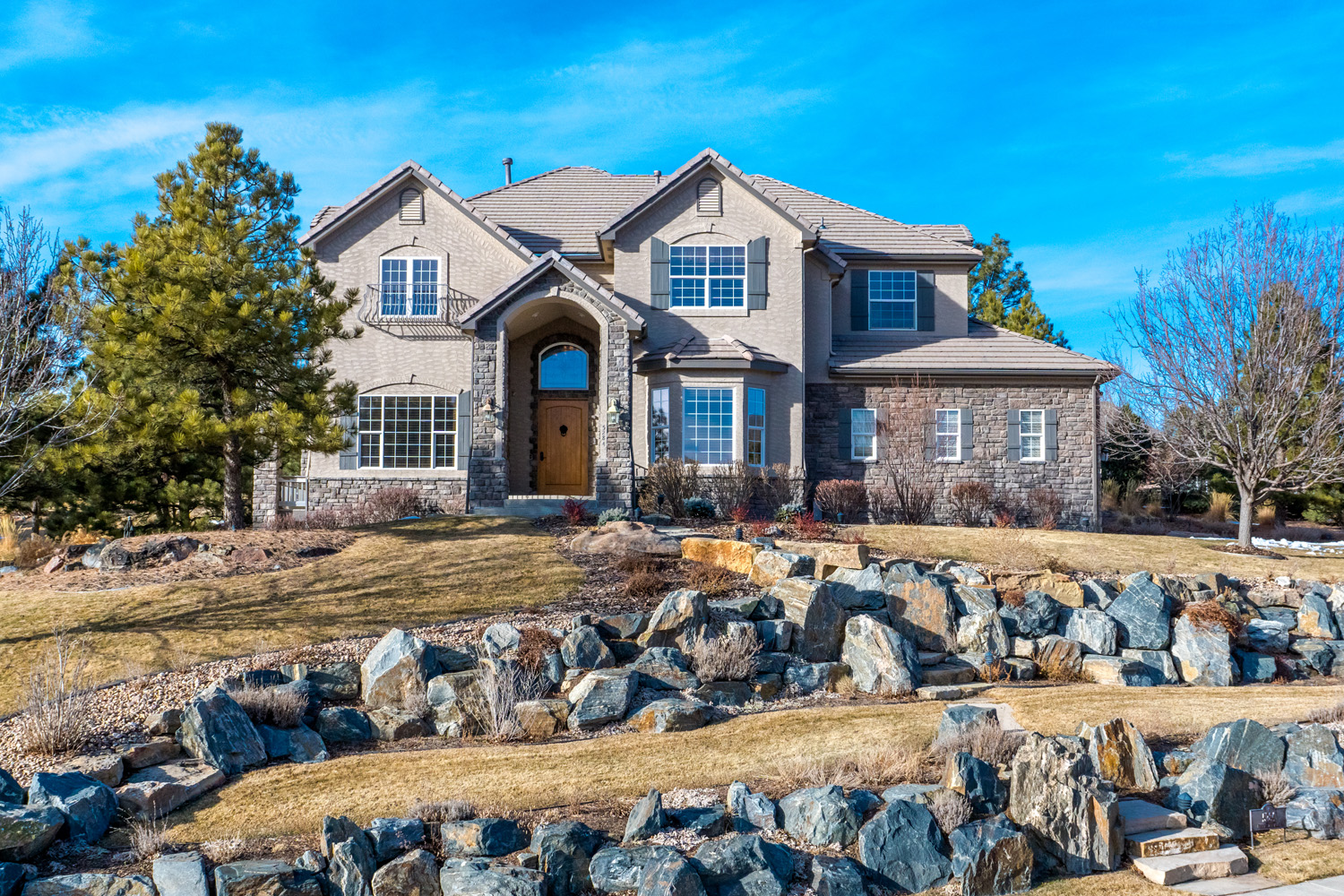 Single Family Home for Active at Stunning Timbers Retreat That Offers Spectacular Mountain Views 5284 Pinyon Jay Road Parker, Colorado 80134 United States