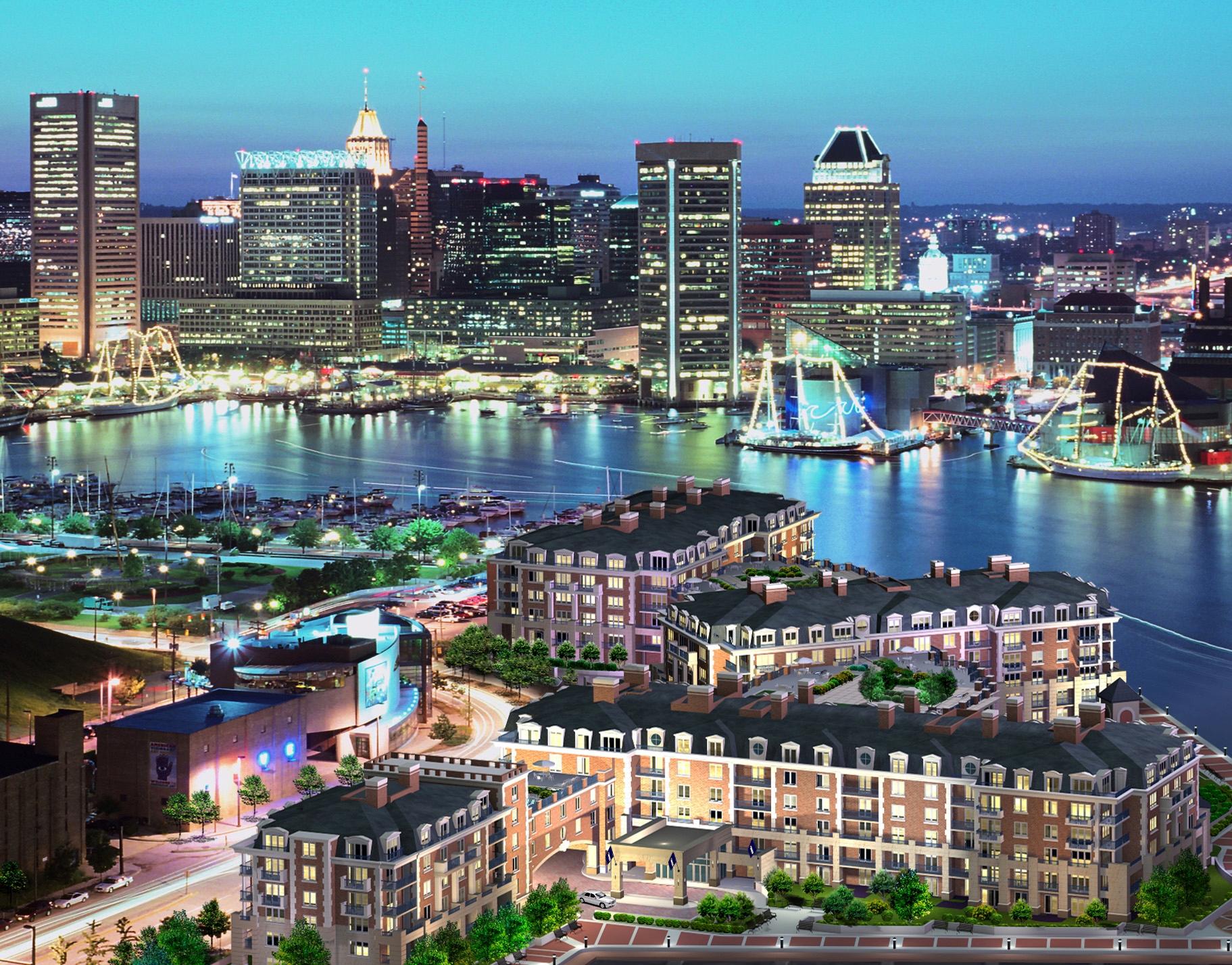 Piso por un Venta en Ritz Carlton Residences 801 Key Hwy #254 Baltimore, Maryland 21230 Estados Unidos