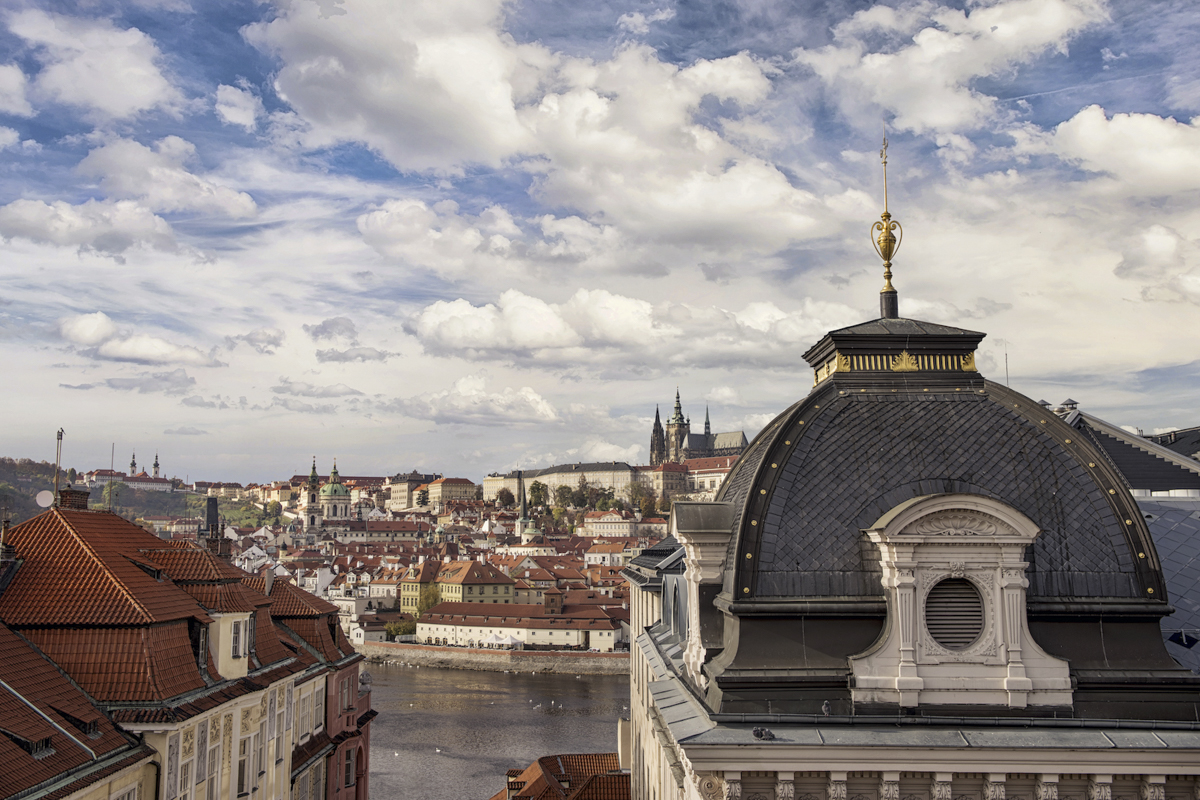 sales property at An Attractive Duplex with Terraces and Views of Prague Castle