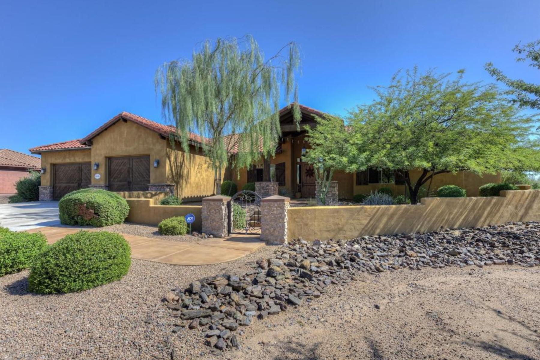 Частный односемейный дом для того Продажа на Exquisite custom home situated on a 1.15 acre cul de sac lot 28507 N 154th Place Scottsdale, Аризона 85262 Соединенные Штаты