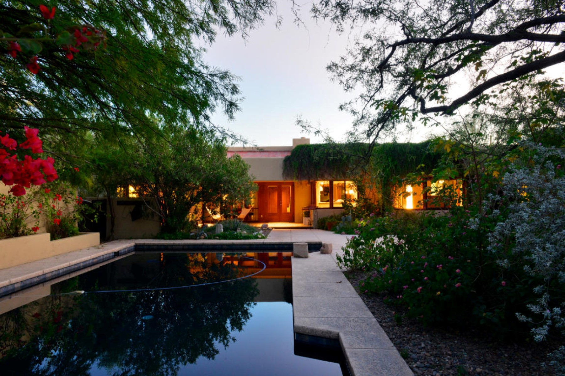 Single Family Home for Sale at Classic contemporary tucked away in a quiet enclave 6751 N Paseo De Los Altos Tucson, Arizona 85704 United States