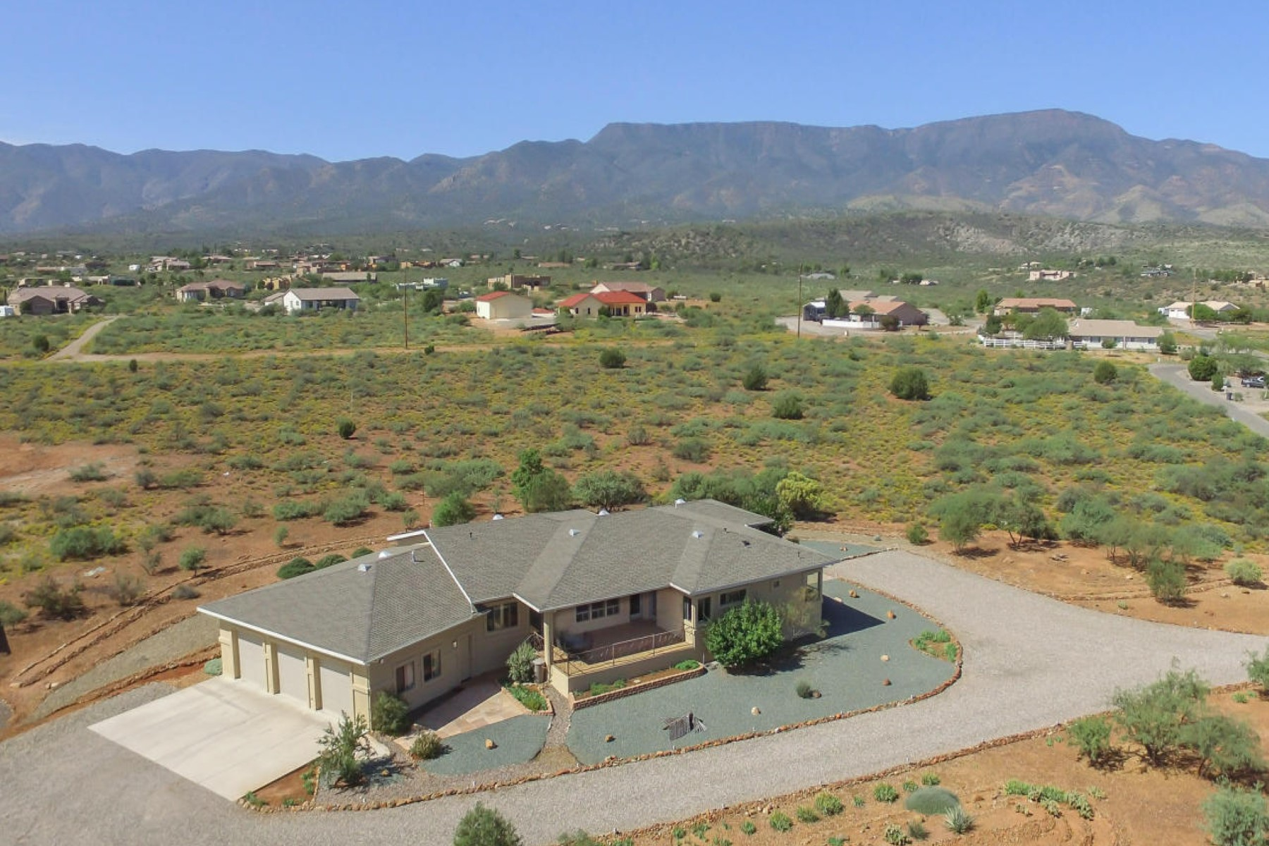 Single Family Home for Sale at Contemporary ranch home nestled in the Mingus Foothills 1155 E High Desert Lane Cottonwood, Arizona, 86326 United States