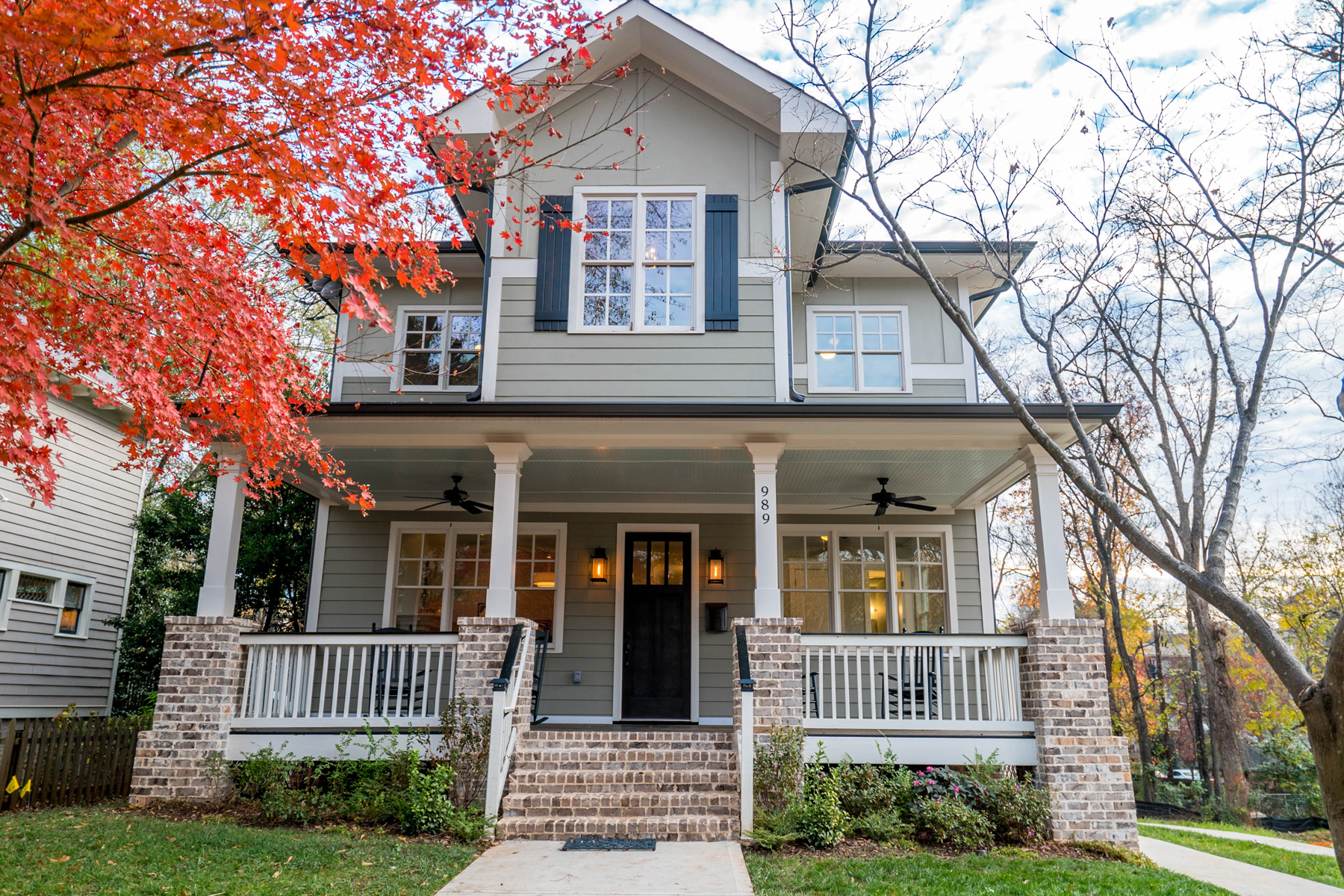 Single Family Home for Sale at Fabulous New Construction Blocks From Virginia Highland Village 989 Drewry Street NE Virginia Highland, Atlanta, Georgia, 30306 United States