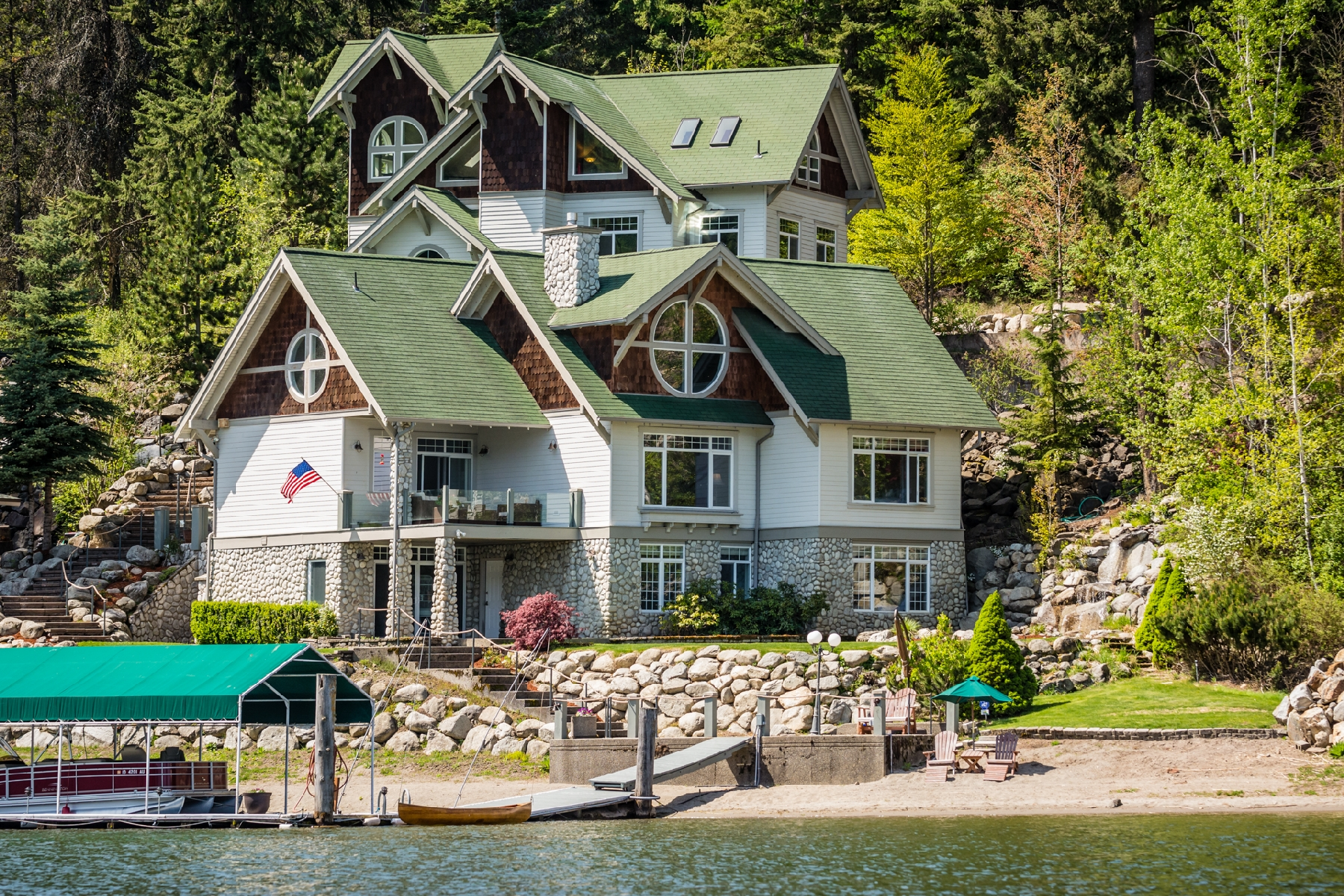 Single Family Home for Sale at Lakefront Estate 3750 S. Westway Dr Coeur D Alene, Idaho 83814 United States