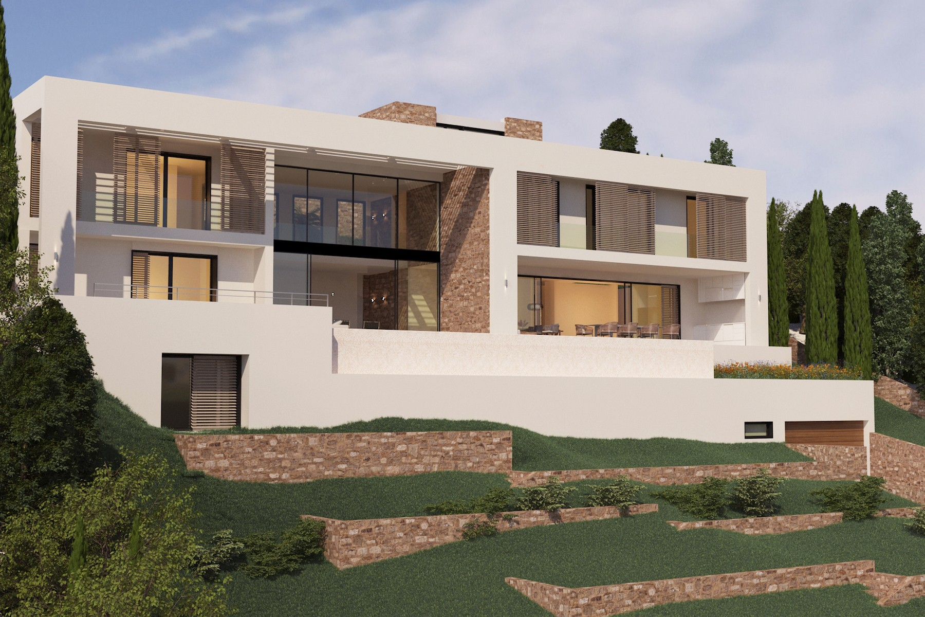Casa Unifamiliar por un Venta en Sea view villa under construction in Camp de Mar Camp De Mar, Mallorca, 07160 España