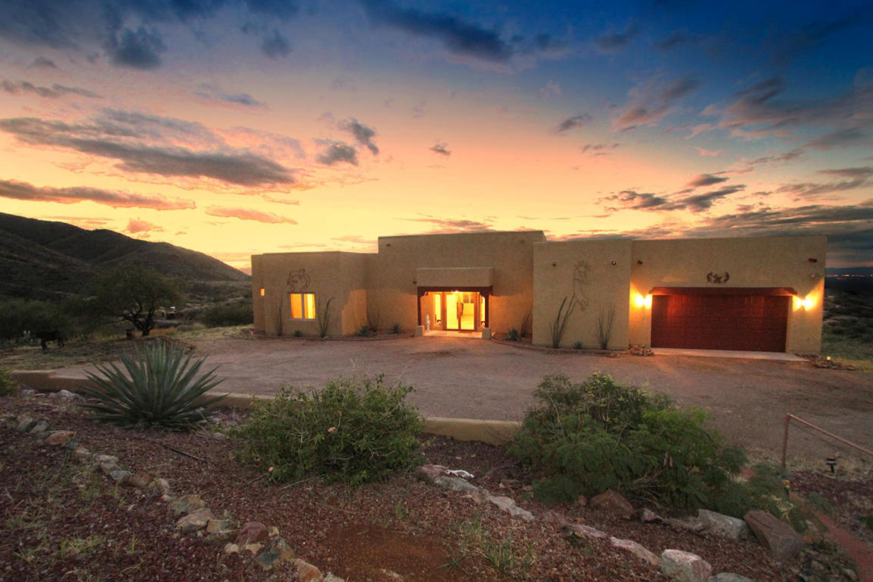 Single Family Home for Sale at Five acres of rolling mountain, sunrise, sunset and valley views 18361 S Camino Chuboso Vail, Arizona 85641 United States