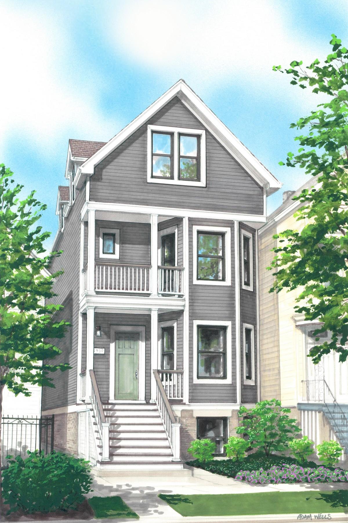 一戸建て のために 売買 アット Elegant New Home 1930 W Henderson Avenue North Center, Chicago, イリノイ, 60657 アメリカ合衆国