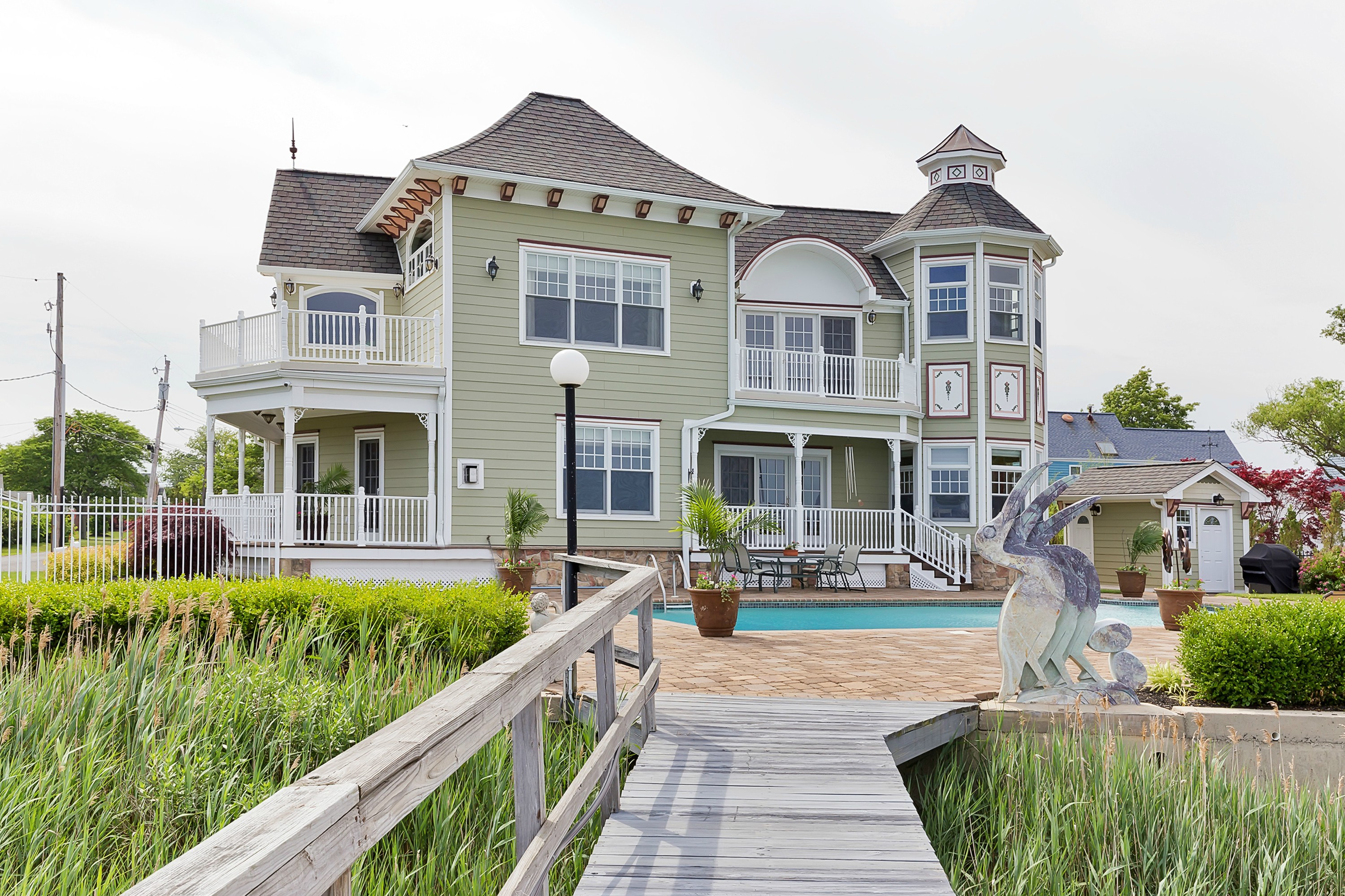 Single Family Home for Sale at Waterfront Custom Home 1 Pocano Ave. Oceanport, New Jersey 07757 United States