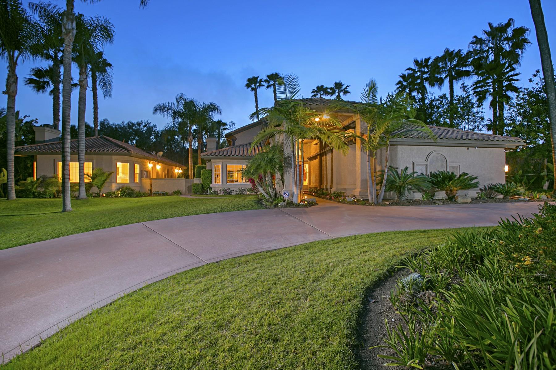 Casa Unifamiliar por un Venta en 17466 Luna de Miel Rancho Santa Fe, California, 92067 Estados Unidos