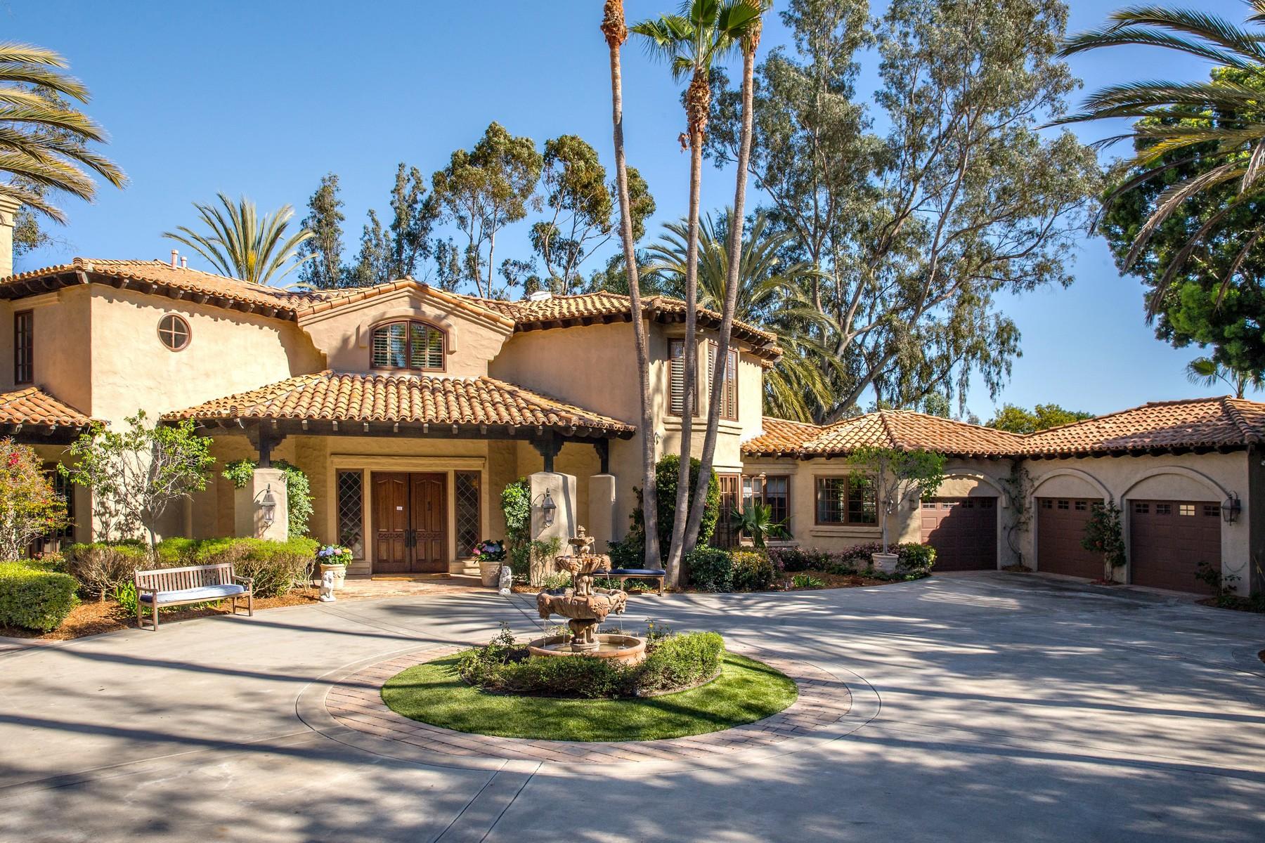 Maison unifamiliale pour l Vente à 5445 Calzada Del Bosque Rancho Santa Fe, Californie 92067 États-Unis