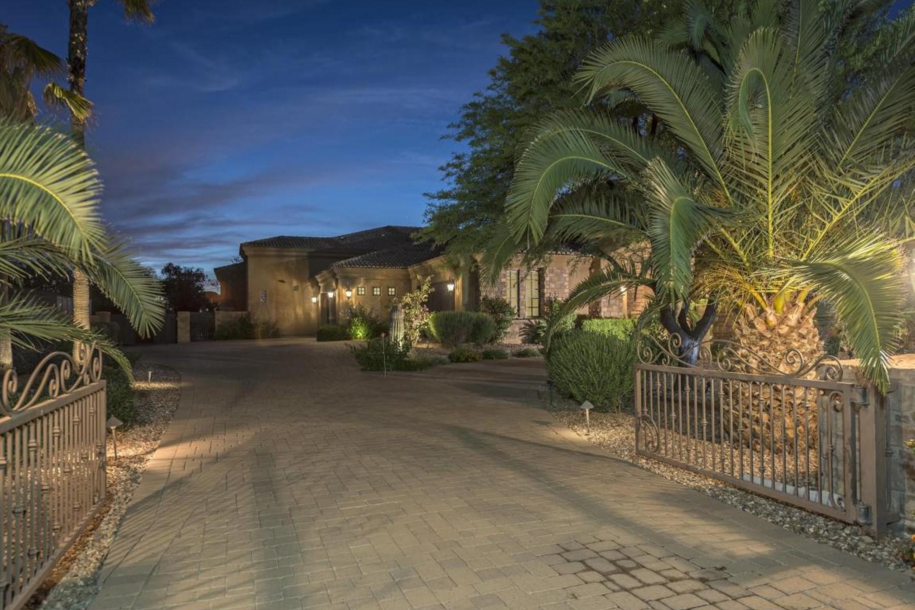 단독 가정 주택 용 매매 에 Magnificent Mediterranean home behind private gates 12122 N 98th St Scottsdale, 아리조나, 85260 미국