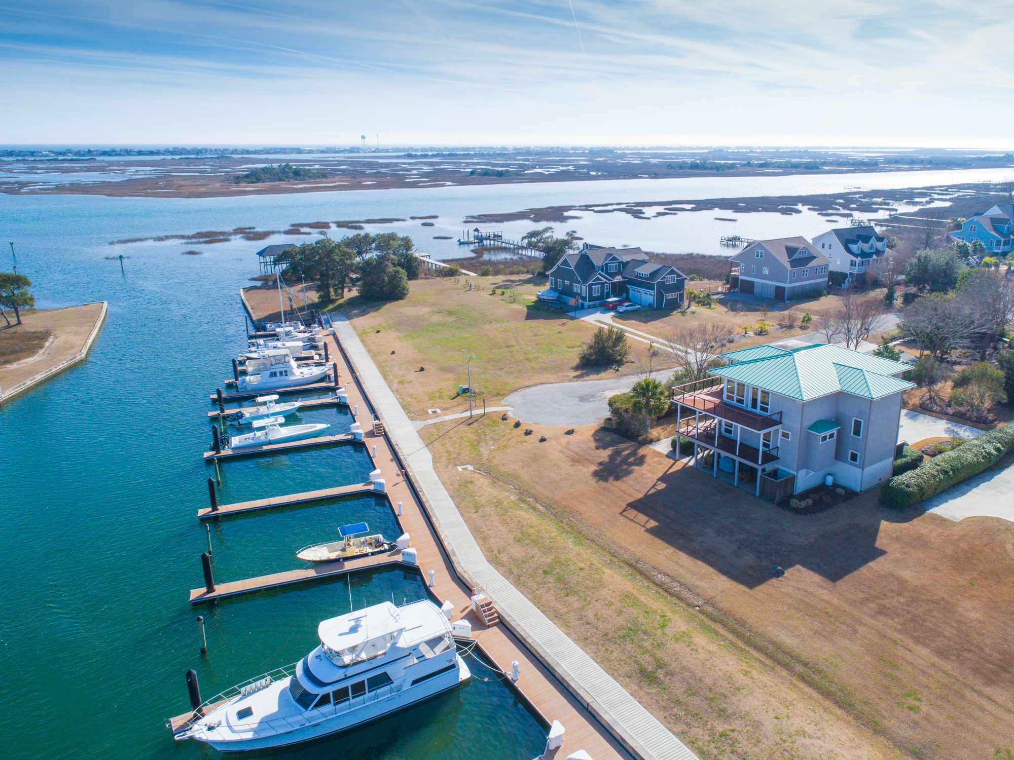 Single Family Home for Sale at Inspired Waterfront Vistas for the Connoisseurs of Life 134 Soundview Drive Hampstead, North Carolina, 28443 United States