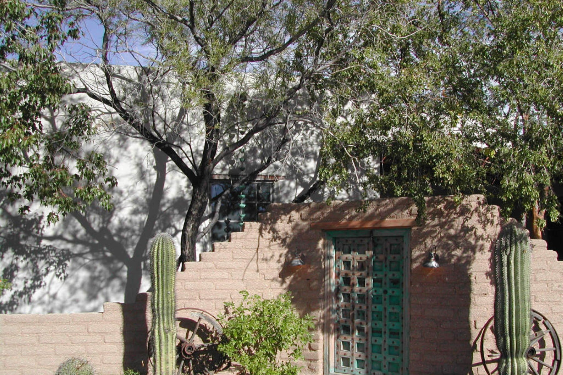 Single Family Home for Sale at True Santa Fe Home at the End of a Private Drive on 3.36 Acres 6080 W Peregrine Way Tucson, Arizona 85745 United States