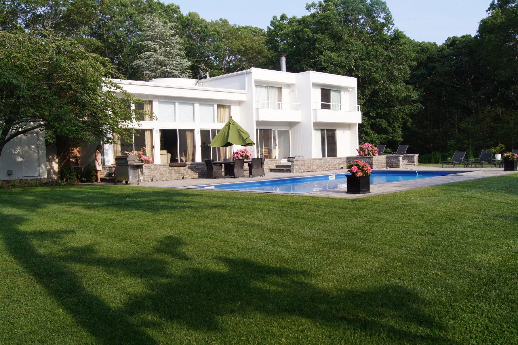 Single Family Home for Sale at Great Contemporary with Pool 10 Fox Hollow Drive East Quogue, New York, 11942 United States