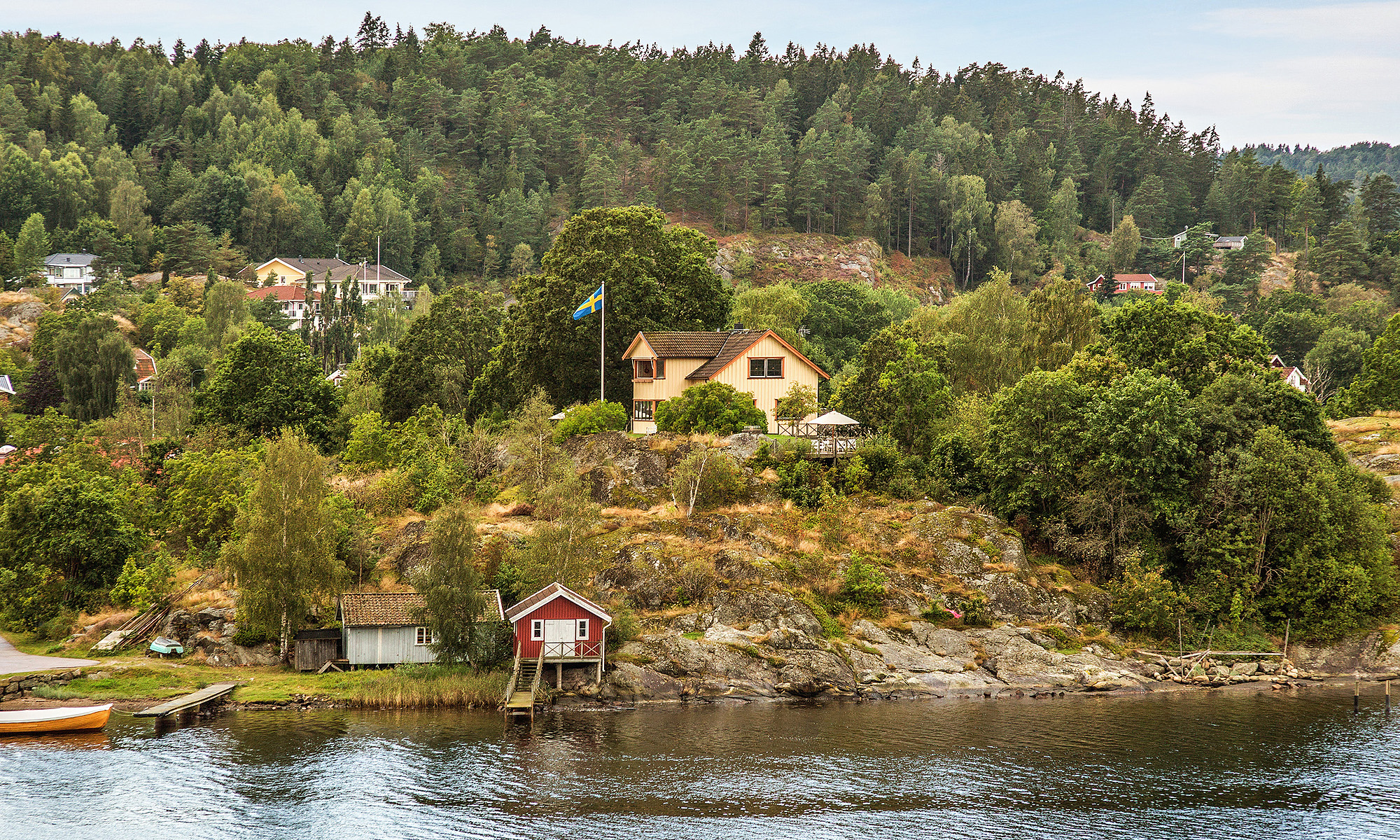 Single Family Home for Sale at A property with a panoramic view and a building permit for a 35 metre long dock Other Vastra Gotaland, Vastra Gotaland Sweden
