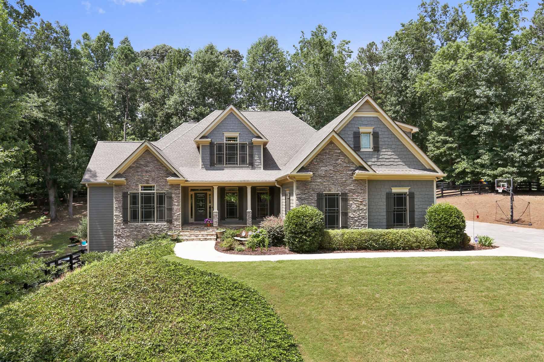 Einfamilienhaus für Verkauf beim Remarkable Custom Home on 4+ Acres With Private Drive 110 Brannon Court Canton, Georgia, 30115 Vereinigte Staaten