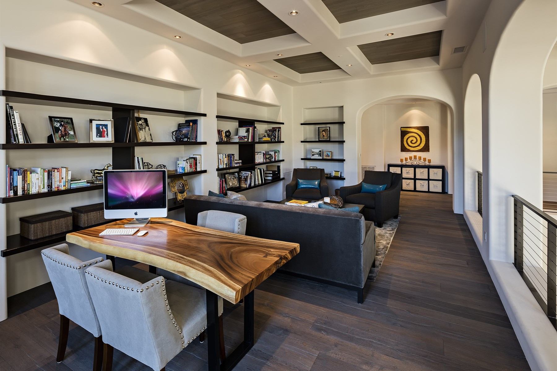 Property Of Spanish Colonial architectural style home with soft contemporary interior