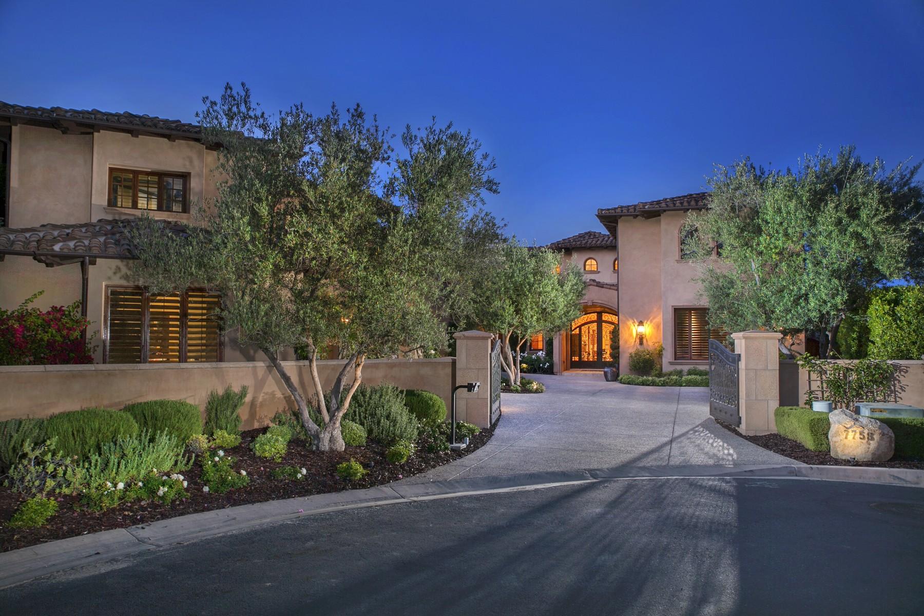 Частный односемейный дом для того Продажа на 7758 - 7760 Road To Zanzibar Rancho Santa Fe, Калифорния 92127 Соединенные Штаты