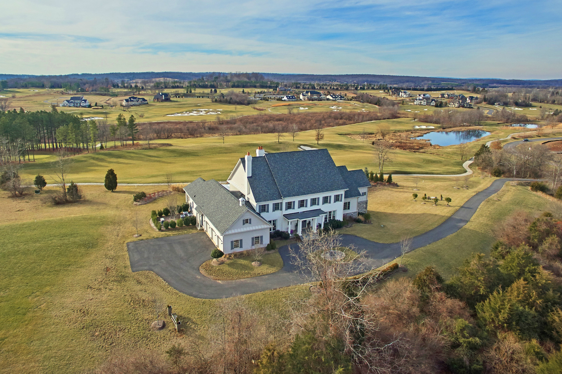 Single Family Home for Sale at Stylish Modern Farmhouse 22443 Creighton Farms Drive Leesburg, Virginia 20175 United States