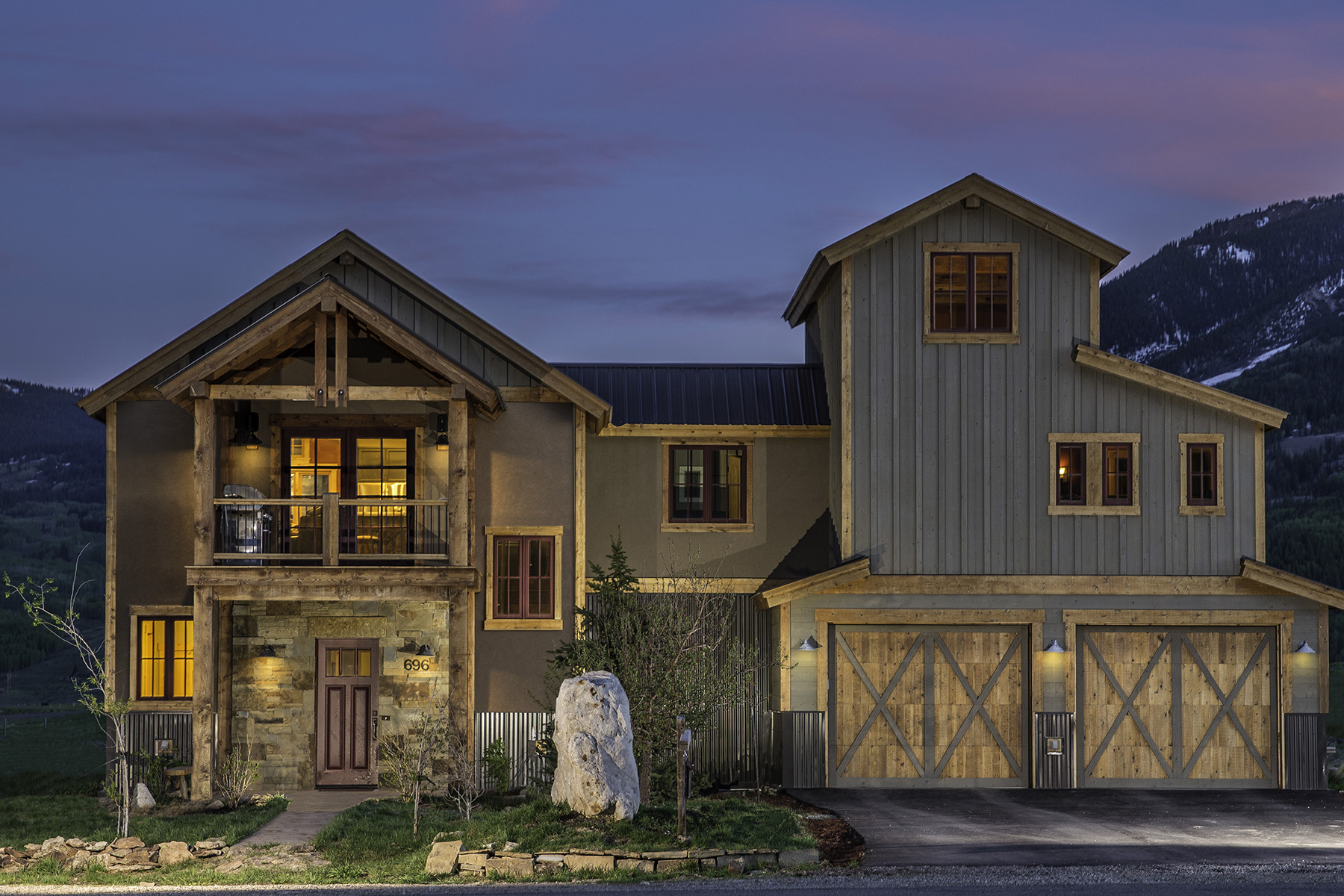 Single Family Home for Sale at Rustic and Modern Design 696 S. Avion Drive Crested Butte, Colorado, 81224 United States