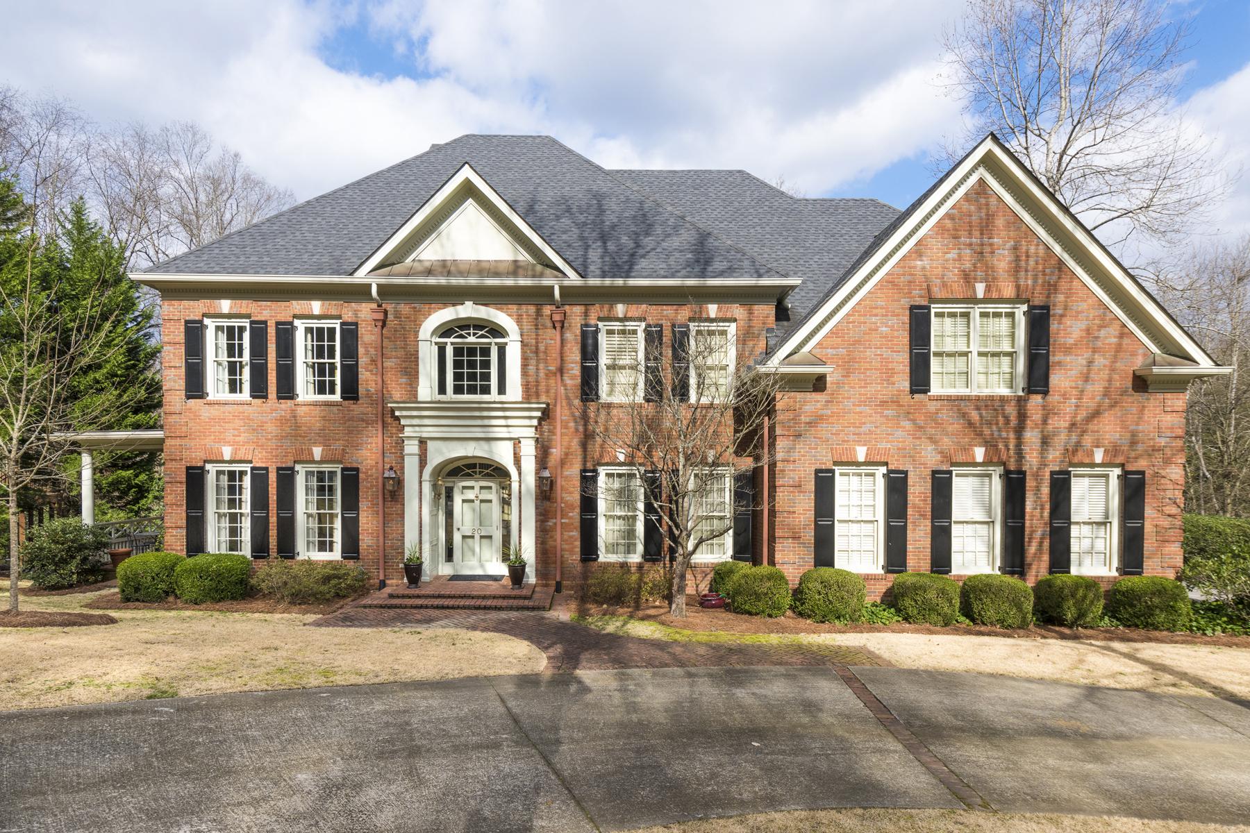 Частный односемейный дом для того Продажа на Wonderful Well Maintained Home On Private Cul-de-sac 20 Asheworth Court NW Buckhead, Atlanta, Джорджия, 30327 Соединенные Штаты