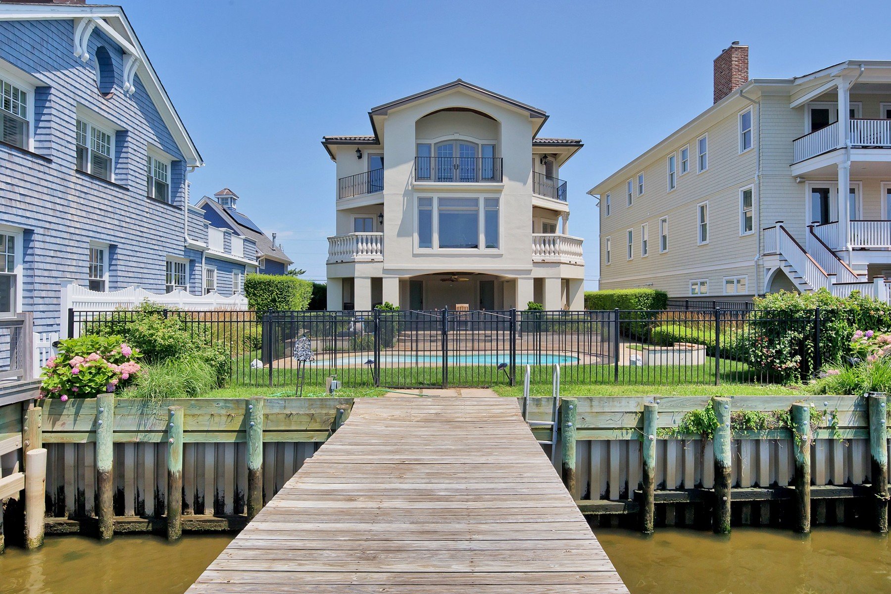 Single Family Home for Sale at Beautiful Waterfront Home 314 Ocean Avenue Sea Bright, New Jersey 07760 United States