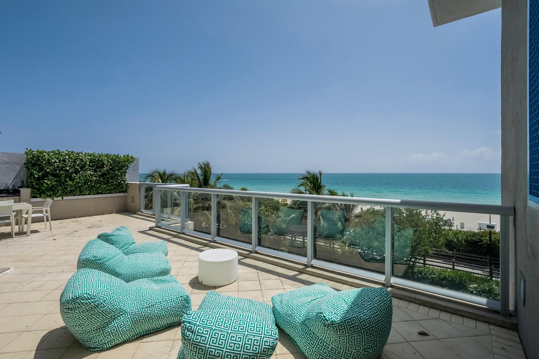 Eigentumswohnung für Verkauf beim 3801 Collins Ave # TH-2 3801 Collins Avenue Unit TH-2 Miami Beach, Florida 33140 Vereinigte Staaten
