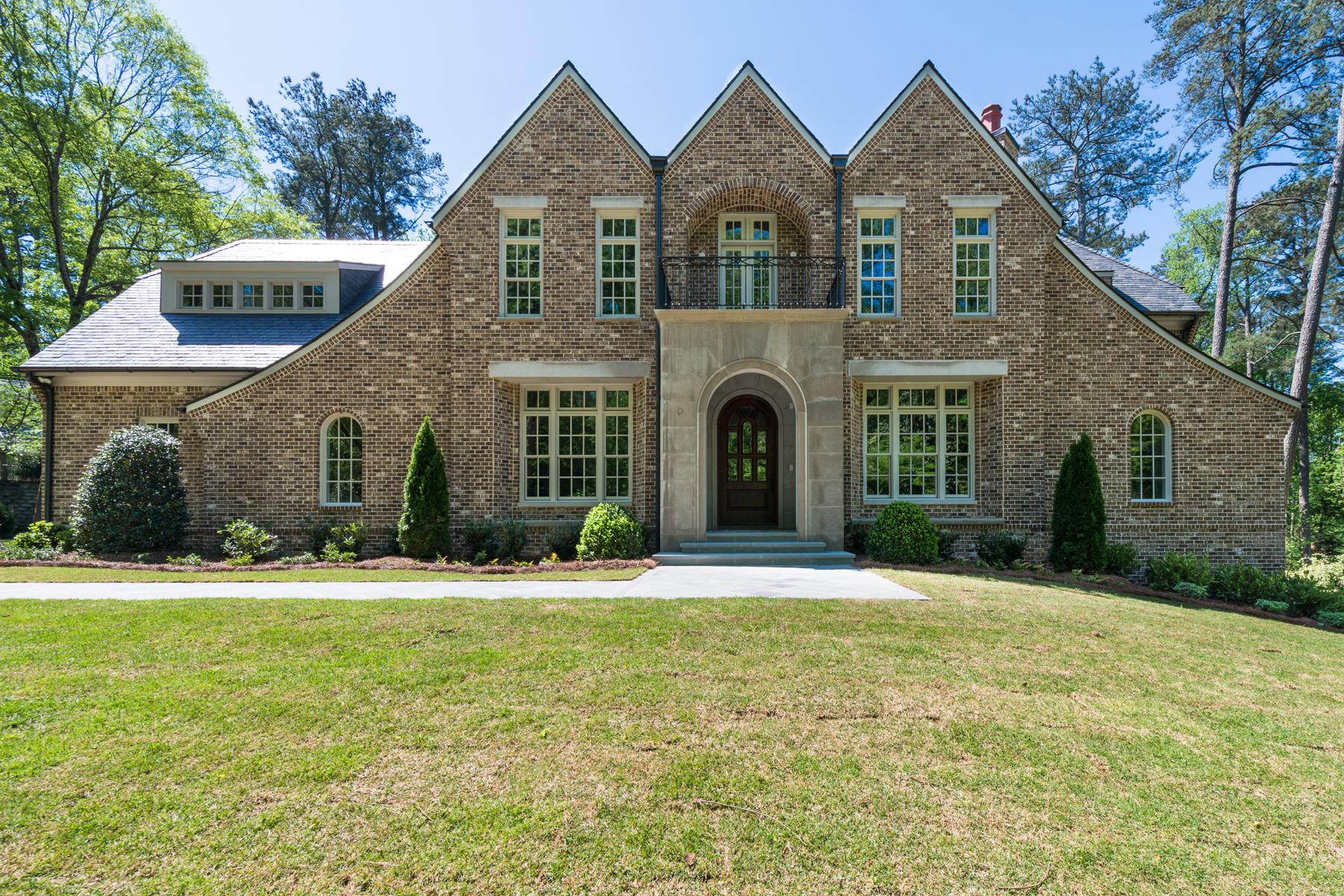 獨棟家庭住宅 為 出售 在 Custom Buckhead Masterpiece 1126 E Beechwood Drive NW Buckhead, Atlanta, 喬治亞州 30327 美國