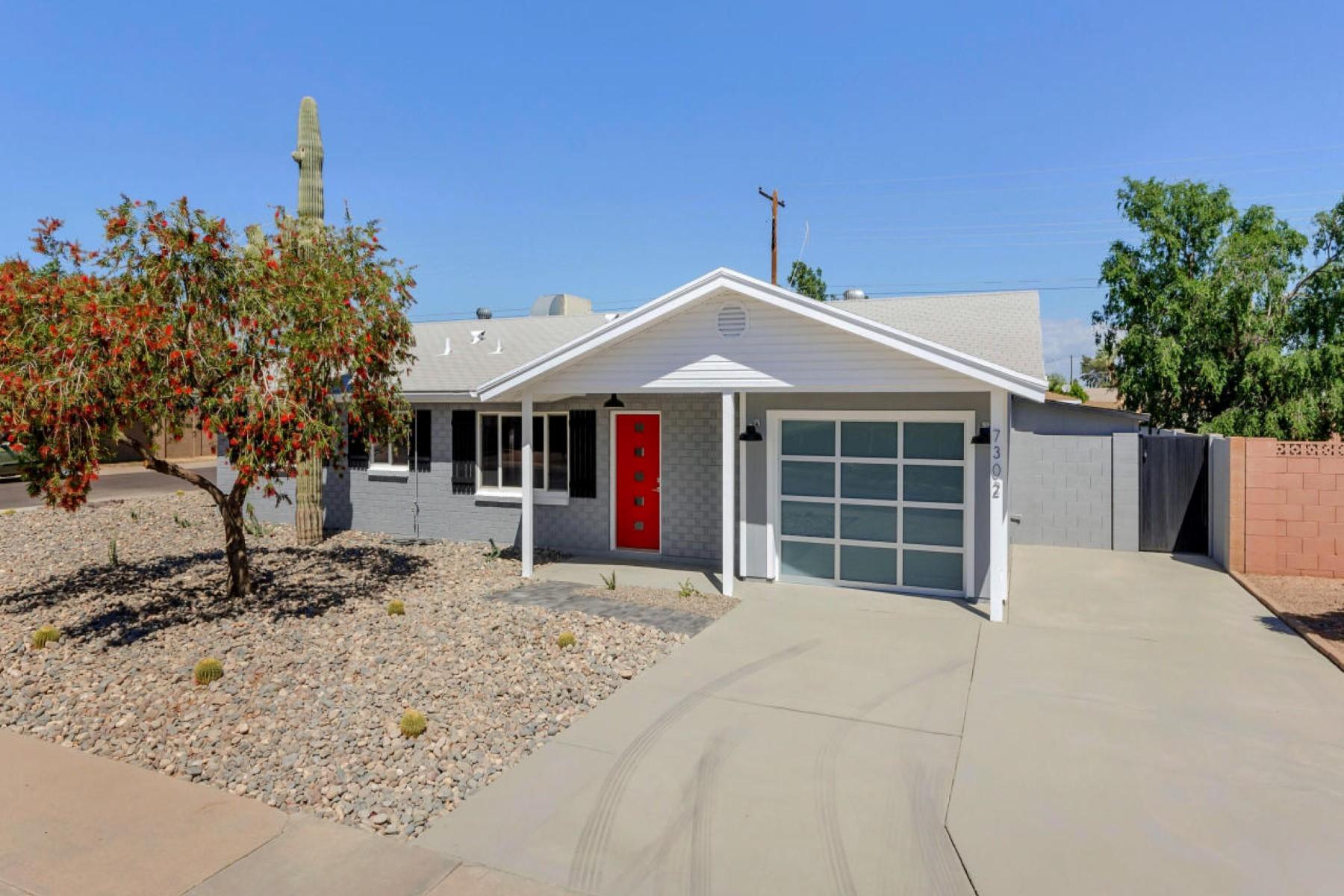 Condominium for Sale at Solid brick home in Scottsdale 7302 E Vernon Avenue Scottsdale, Arizona, 85257 United States