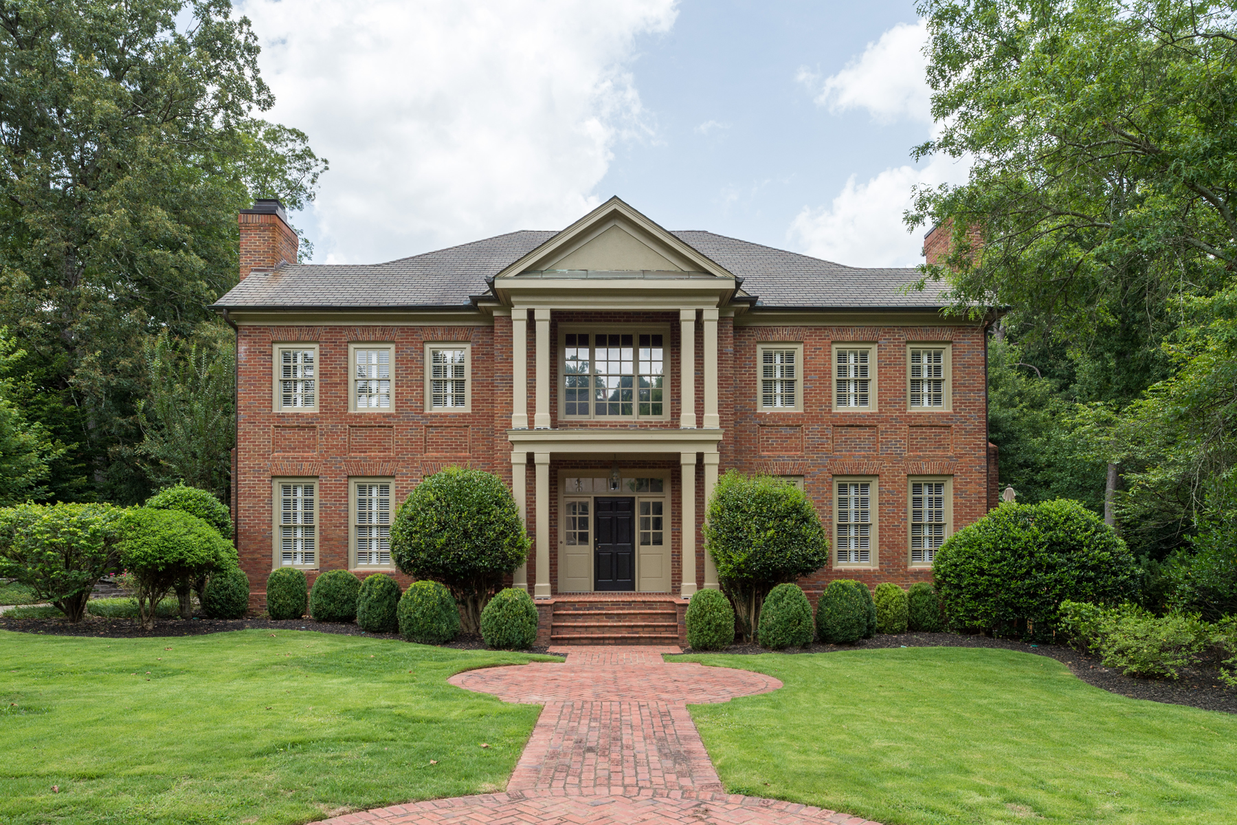 Single Family Home for Sale at Sophisticated Georgian Brick 1520 Stonegate Way Buckhead, Atlanta, Georgia 30327 United States