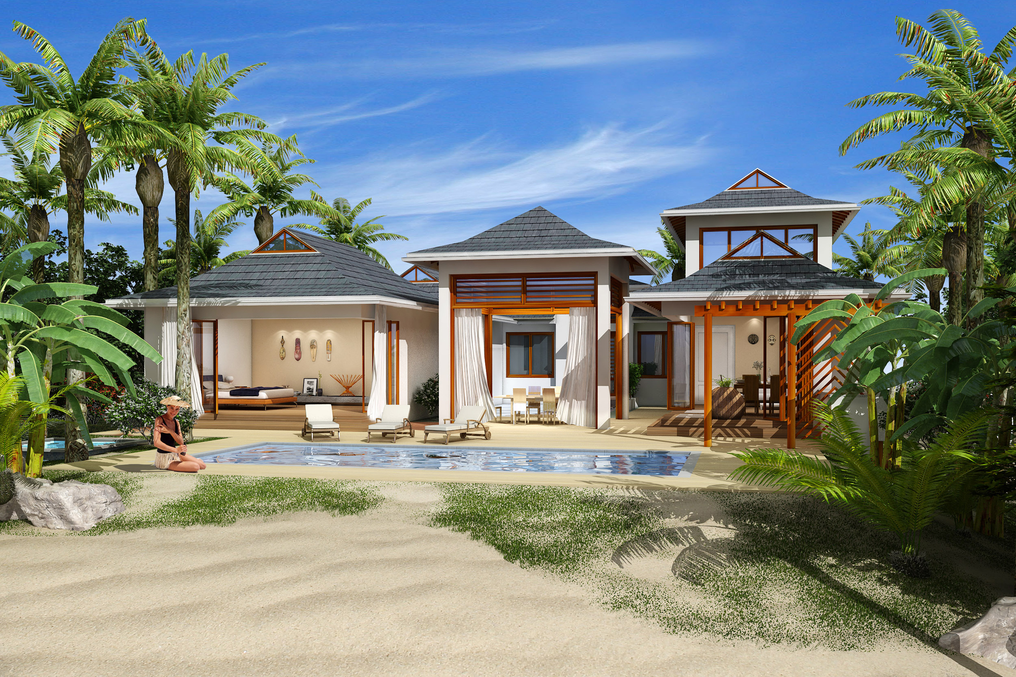 Single Family Home for Sale at Pre-Construction Polynesian Villa East End, Cayman Islands