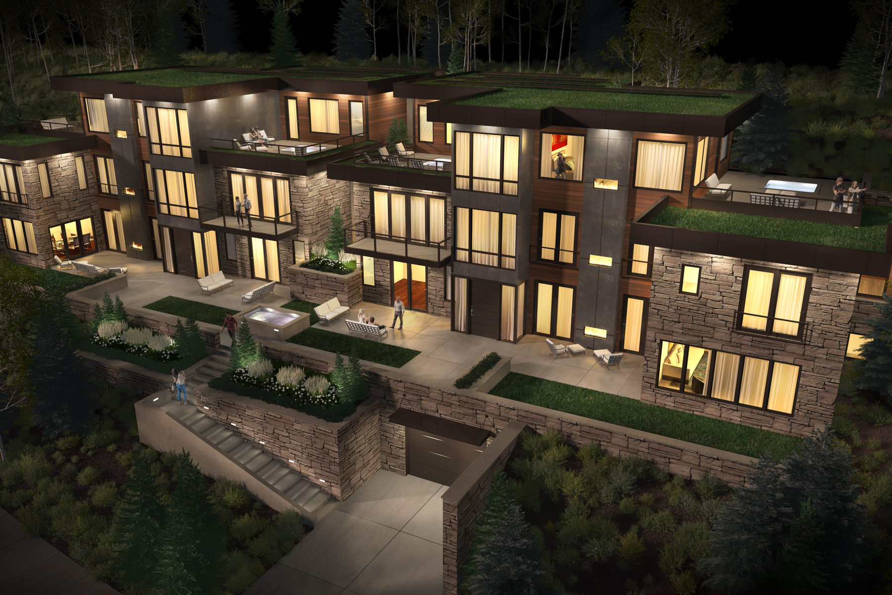 Condominium for Sale at New Contemporary Construction in Old Town 300 Deer Valley Loop Rd #C Park City, Utah 84060 United States