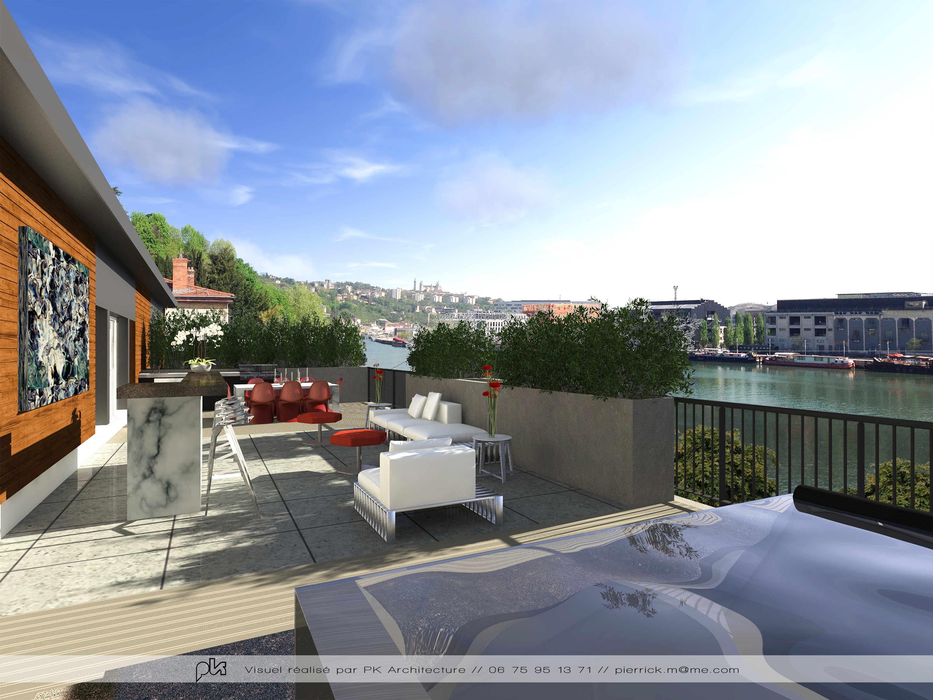 Duplex for Sale at Quais de Saône - Duplex de 300 m² avec terrasses Lyon, Rhone-Alpes France