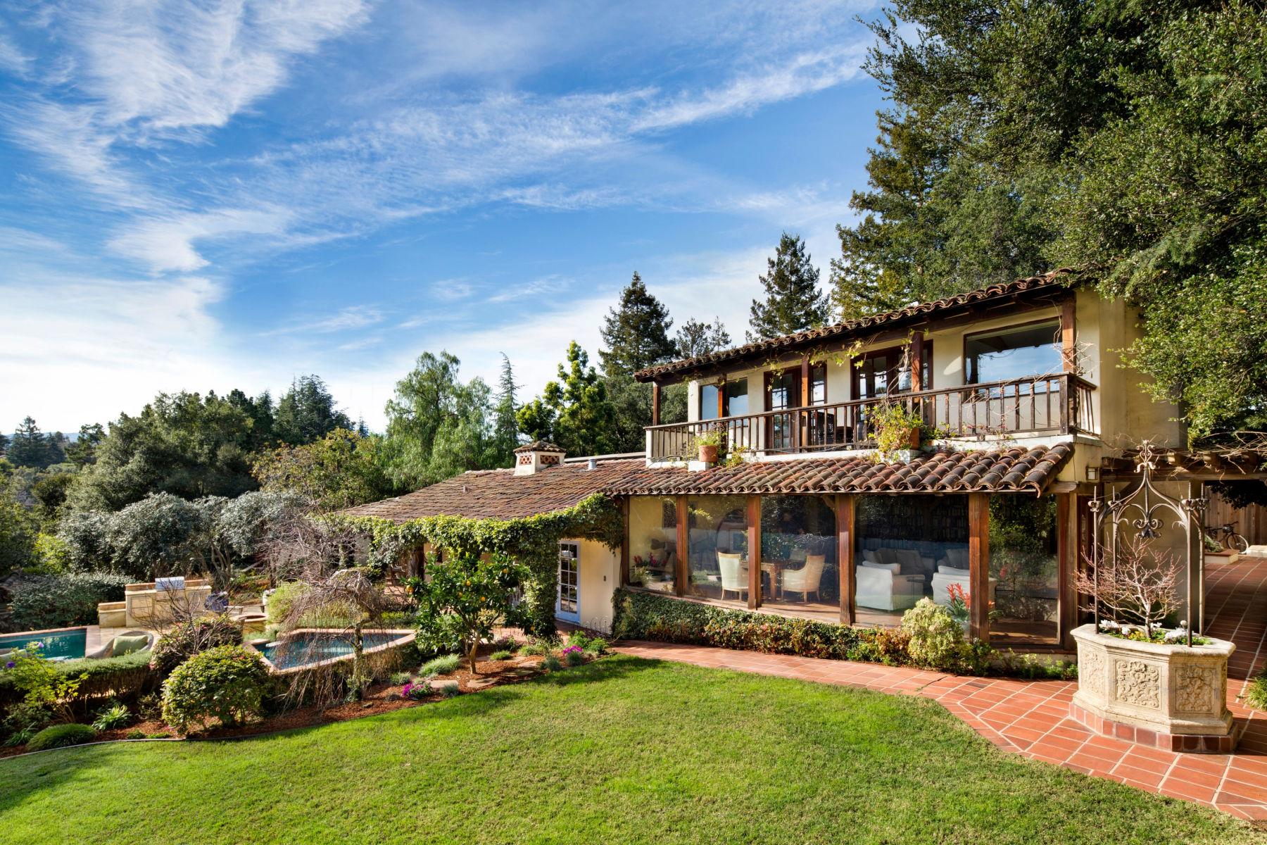 Single Family Home for Sale at Private Los Altos Hills Retreat 14700 Manuella Rd Los Altos Hills, California 94022 United States