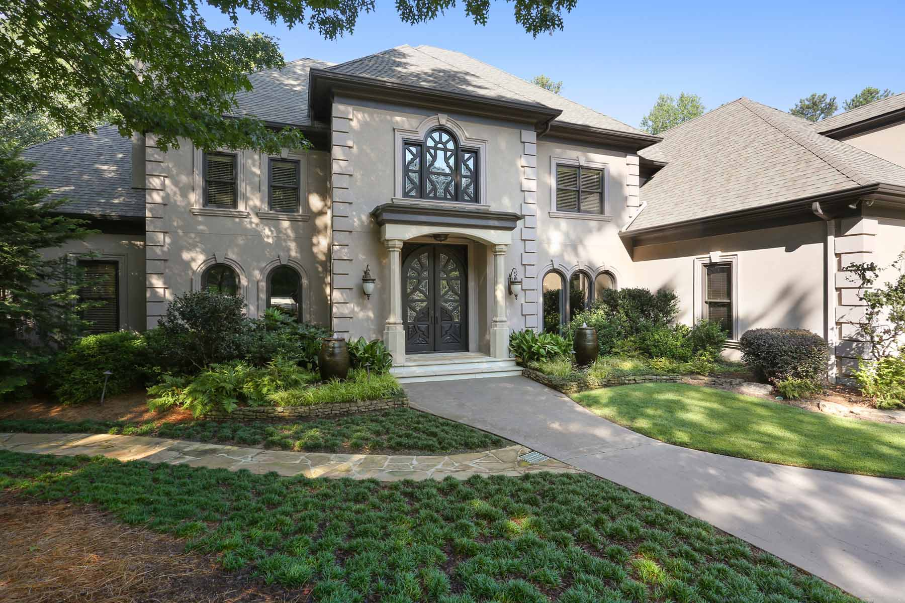 Single Family Home for Sale at Extraordinary Renovated Estate With Custom Imported Architectural Details 6092 Carlisle Lane Alpharetta, Georgia, 30022 United States